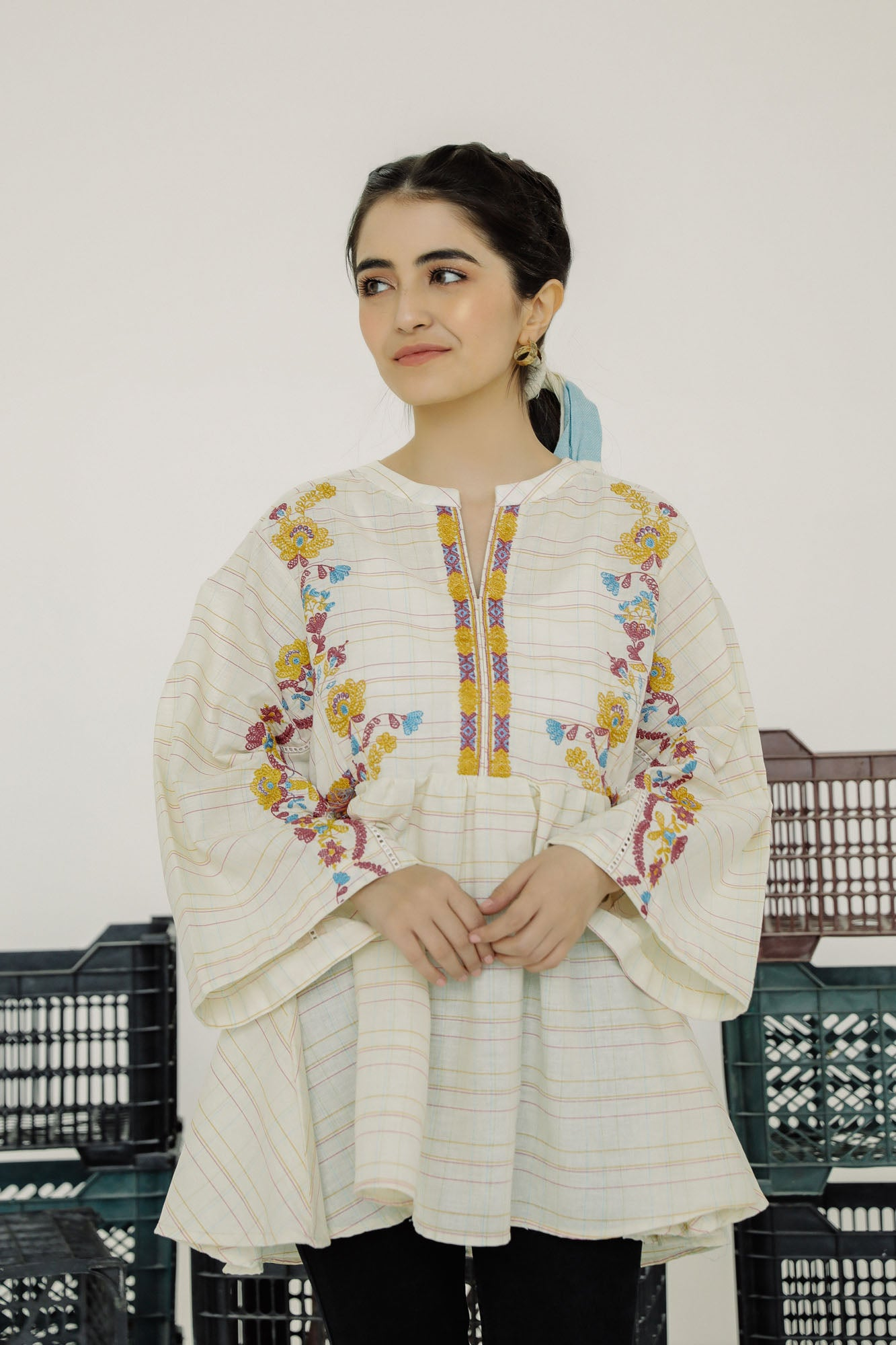 EMBROIDERED TOP (WTF401513) - Ethnic by Outfitters