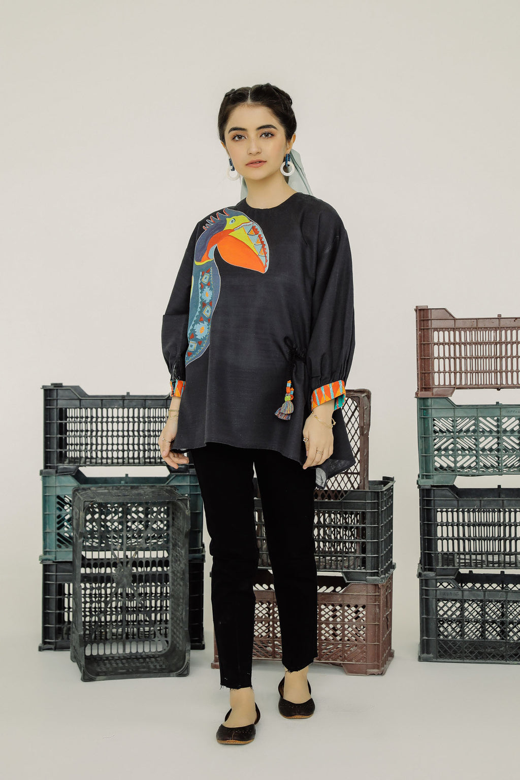 PRINTED KURTI (WTF401523) - Ethnic by Outfitters