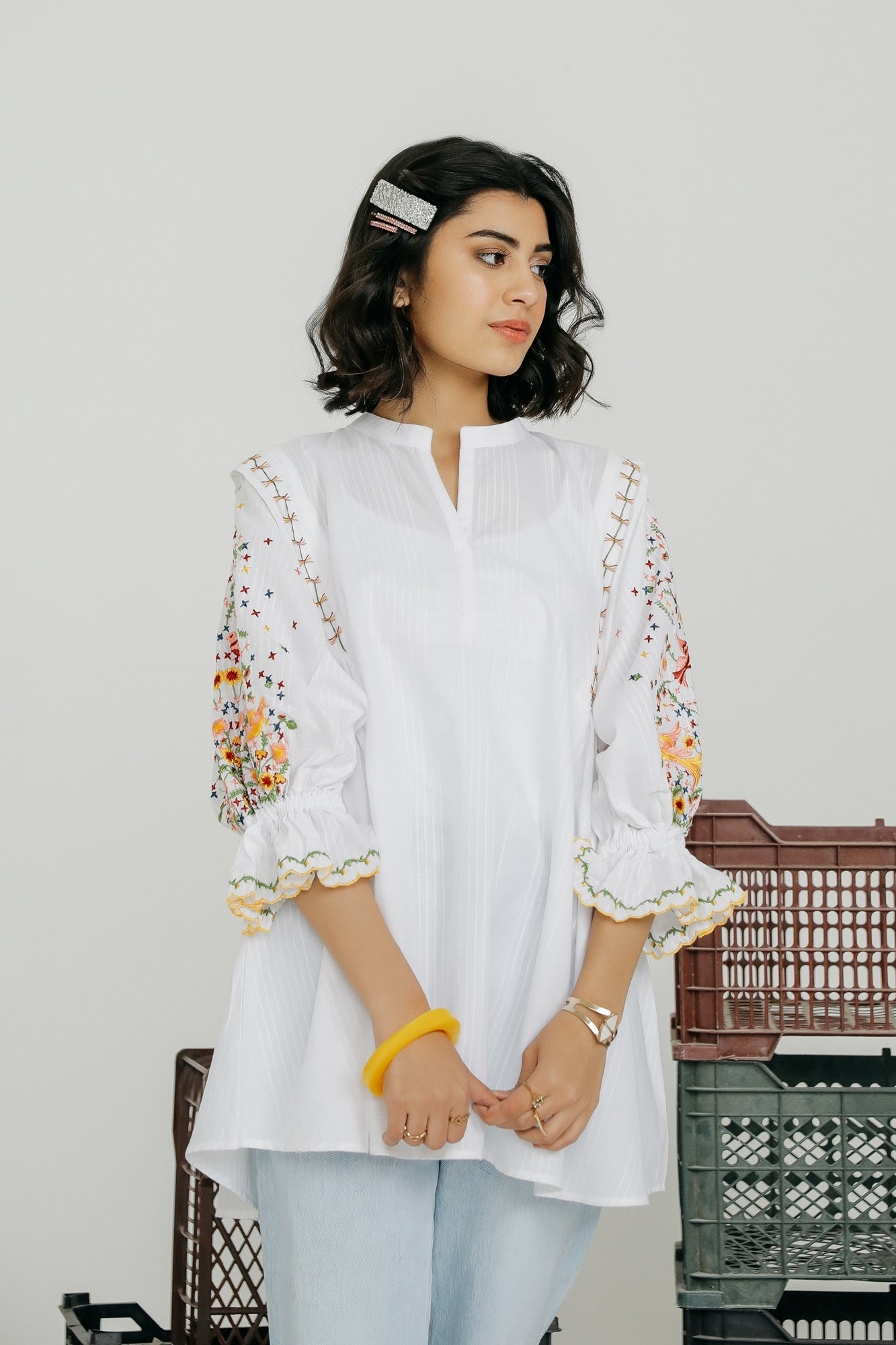 EMBROIDERED KURTI (WTF401537) - Ethnic by Outfitters