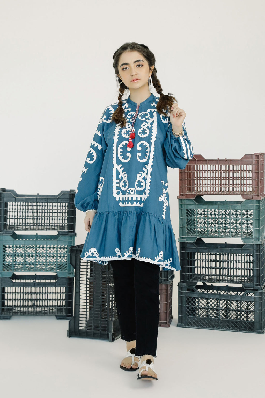 PRINTED KURTI (WTF401538) - Ethnic by Outfitters