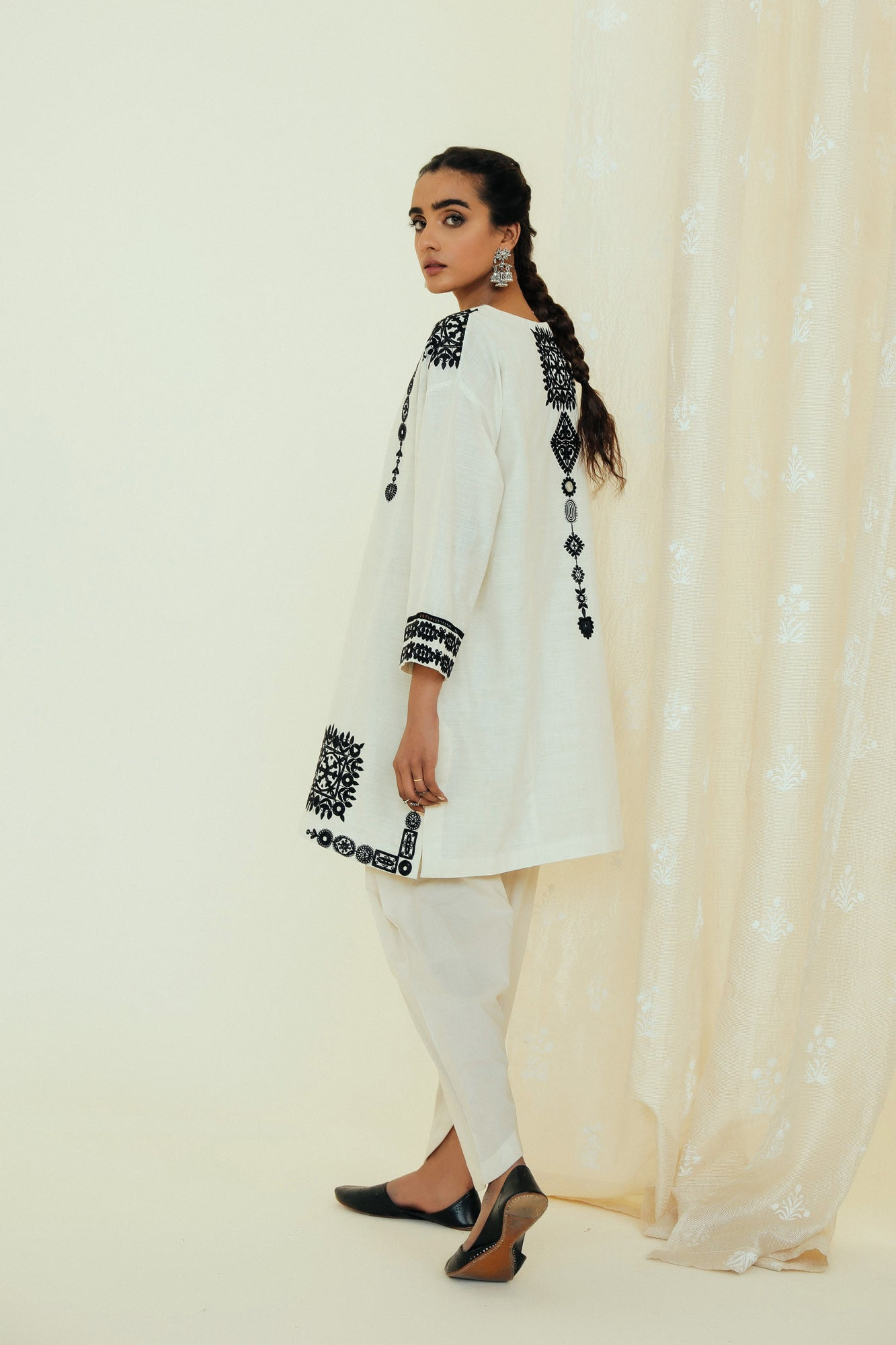 EMBROIDERED SHIRT (WTP111683) - Ethnic by Outfitters