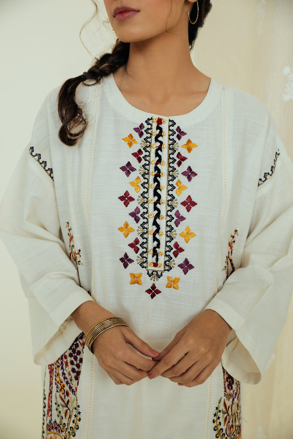 EMBROIDERED SHIRT (WTP111684) - Ethnic by Outfitters