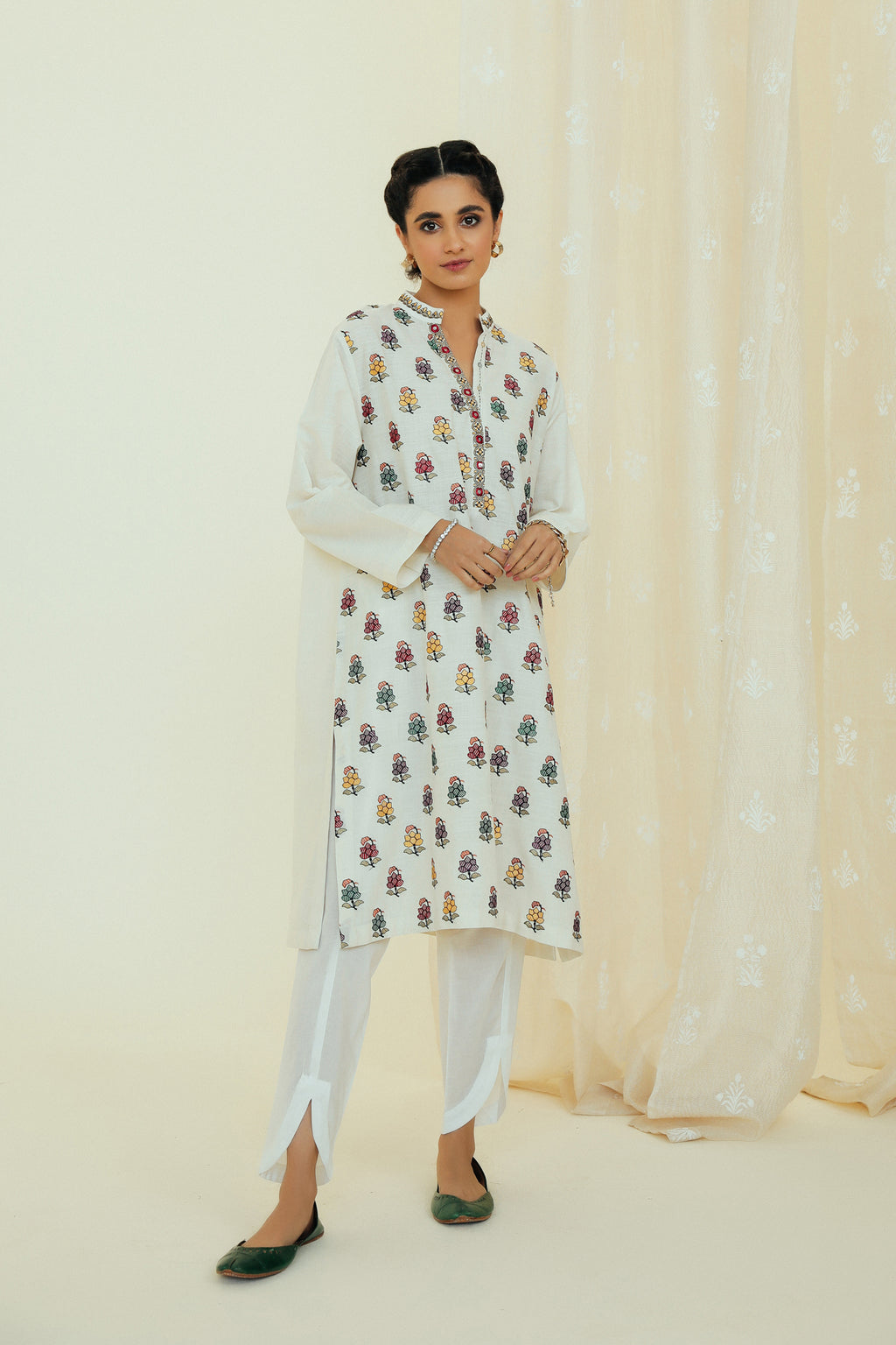 EMBROIDERED SHIRT (WTP111685) - Ethnic by Outfitters