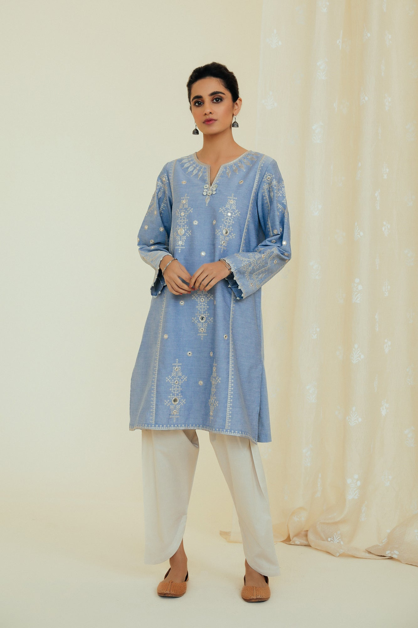 EMBROIDERED SHIRT (WTP111695) - Ethnic by Outfitters
