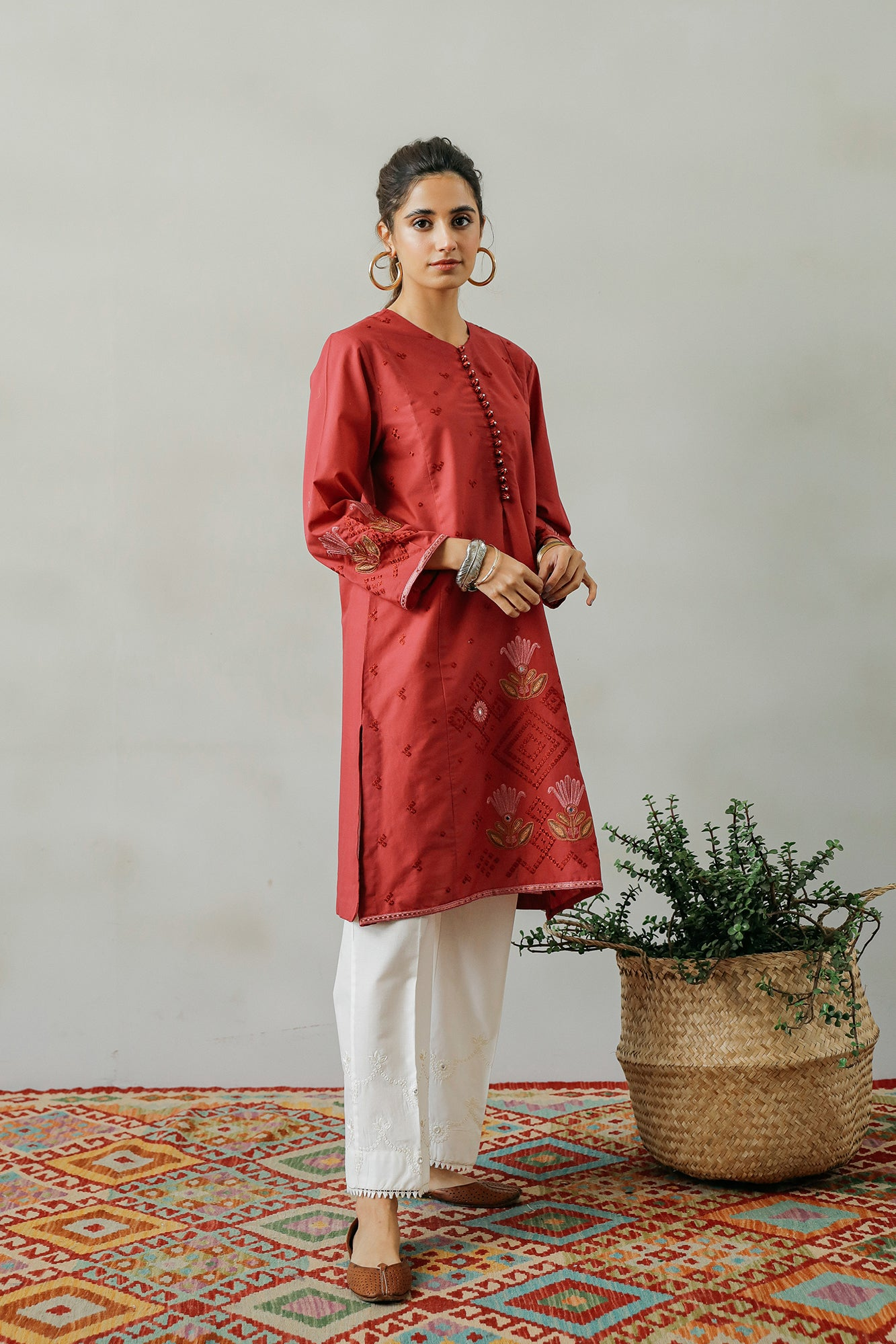 EMBROIDERED SHIRT (WTP111700) - Ethnic by Outfitters