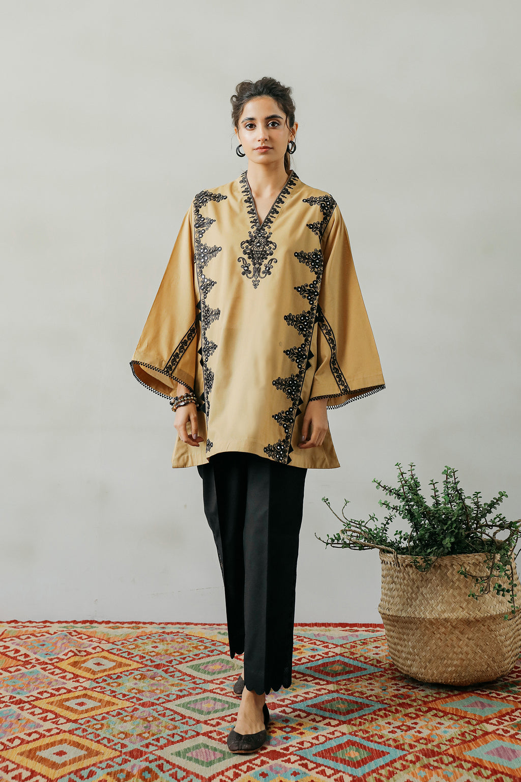 EMBROIDERED SHIRT (WTP111702) - Ethnic by Outfitters