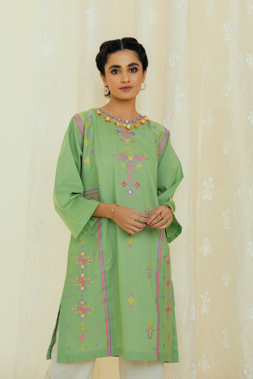 EMBROIDERED SHIRT (WTP111706) - Ethnic by Outfitters