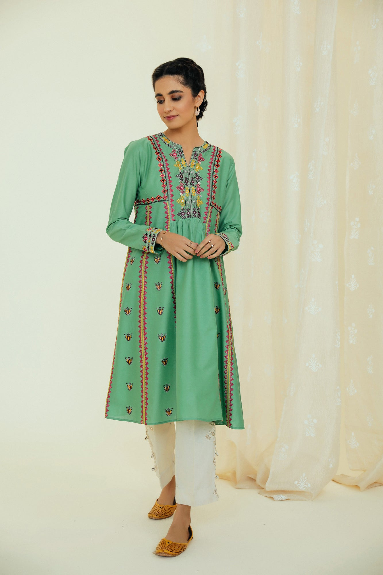 EMBROIDERED SHIRT (WTP111708) - Ethnic by Outfitters