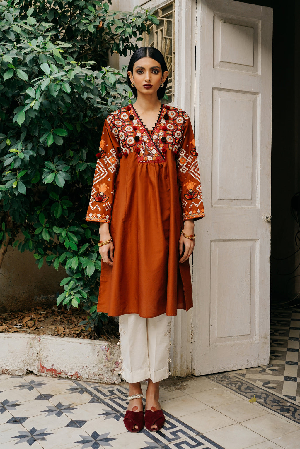 EMBROIDERED SHIRT (WTP111712) - Ethnic by Outfitters