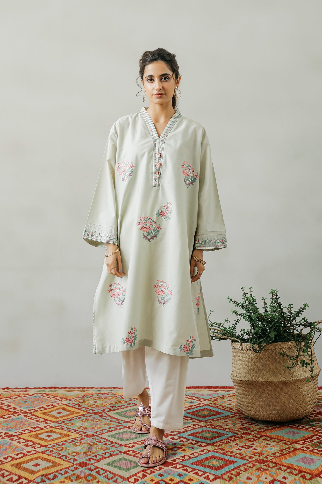 EMBROIDERED SHIRT (WTP111716) - Ethnic by Outfitters