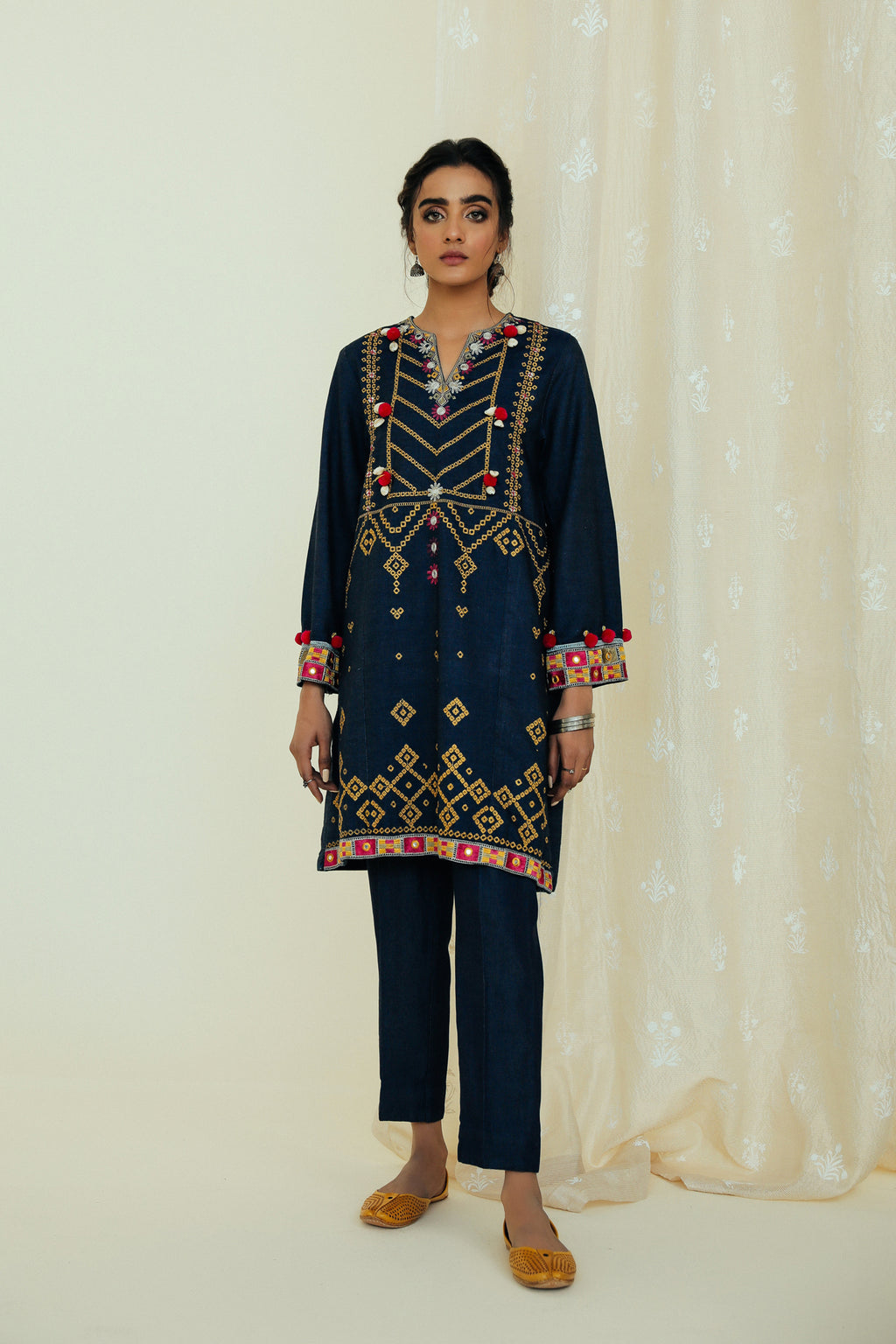 EMBROIDERED SUIT (WTP111725) - Ethnic by Outfitters