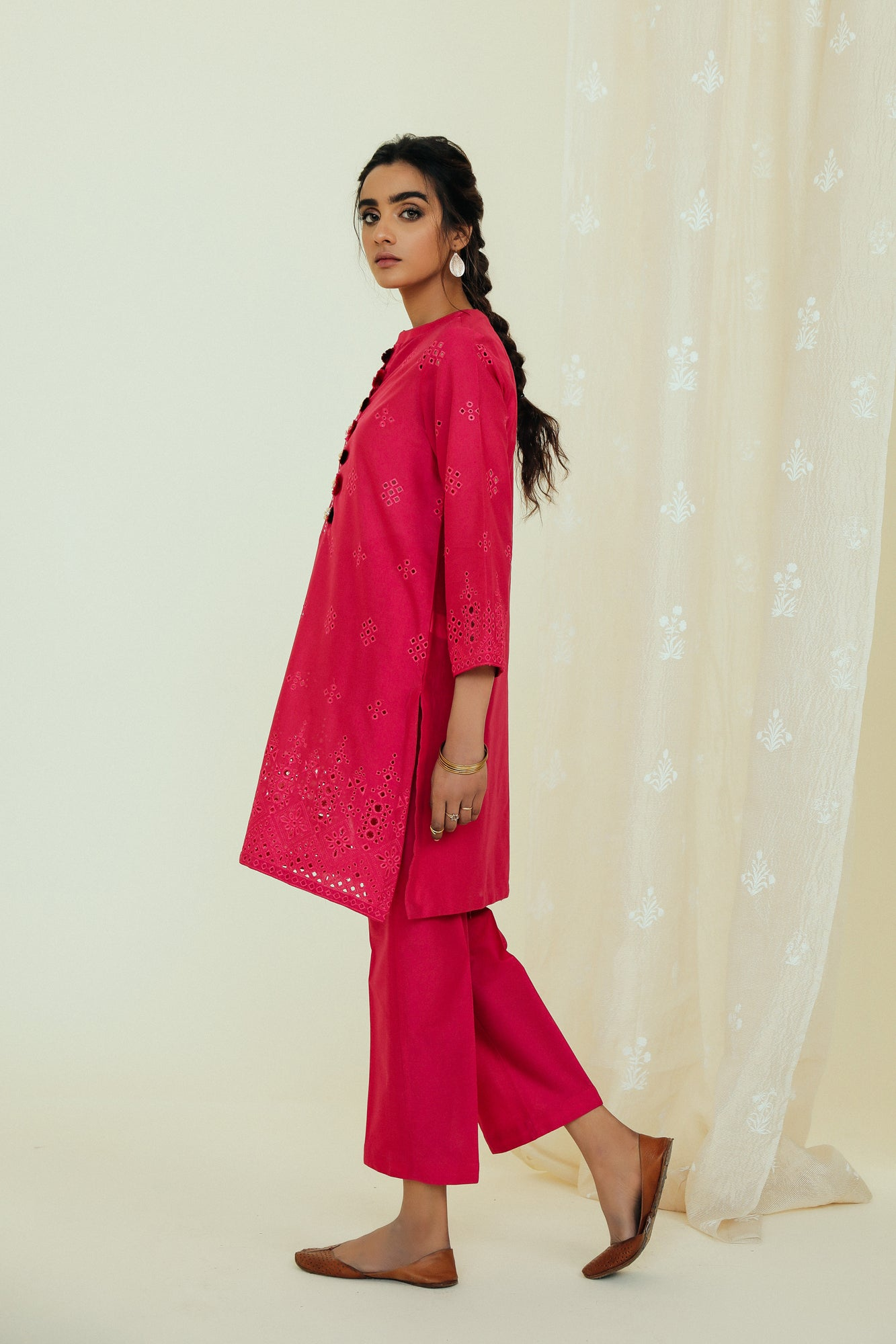 EMBROIDERED SUIT (WTP111731) - Ethnic by Outfitters
