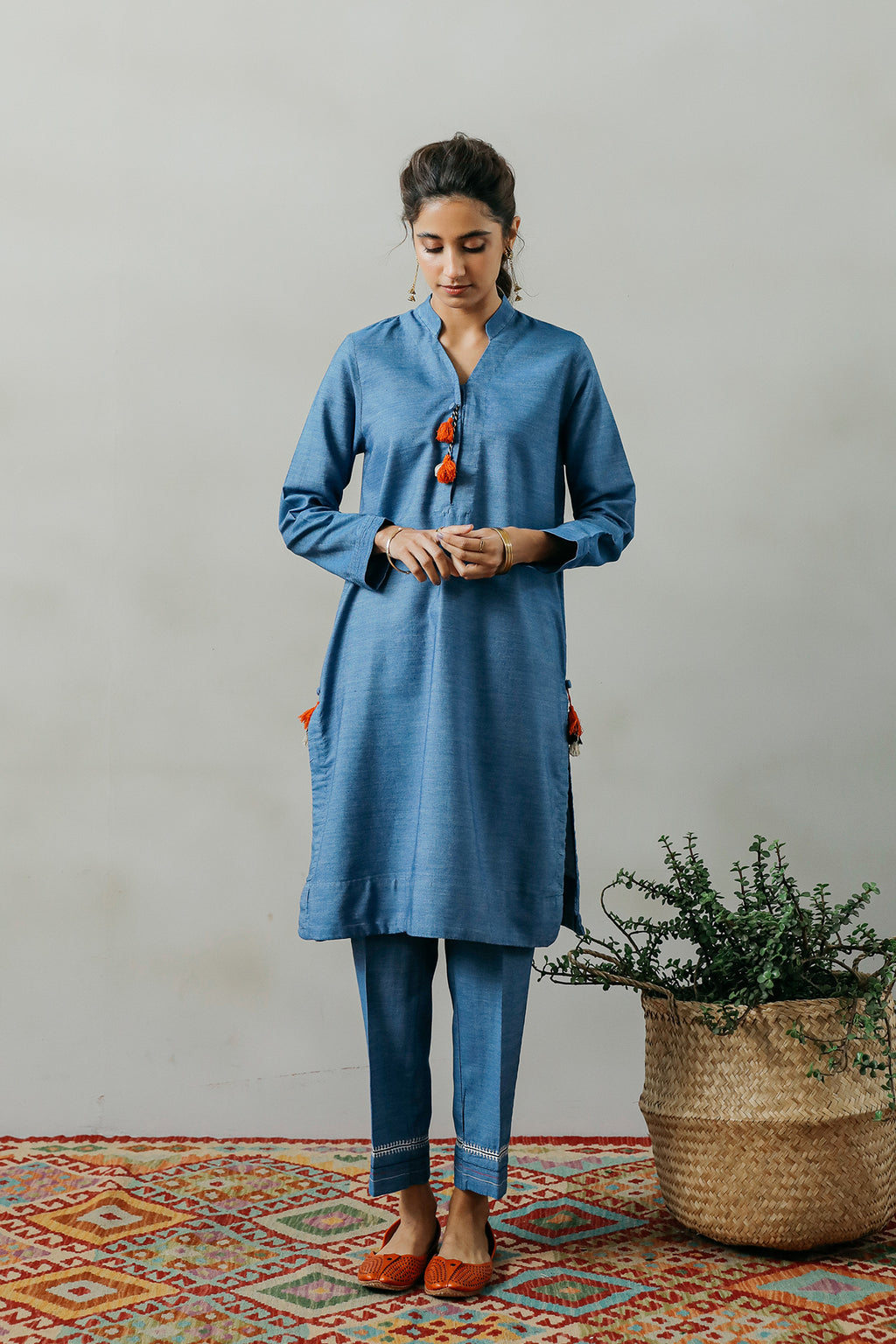 SOLID SUIT (WTP111732) - Ethnic by Outfitters