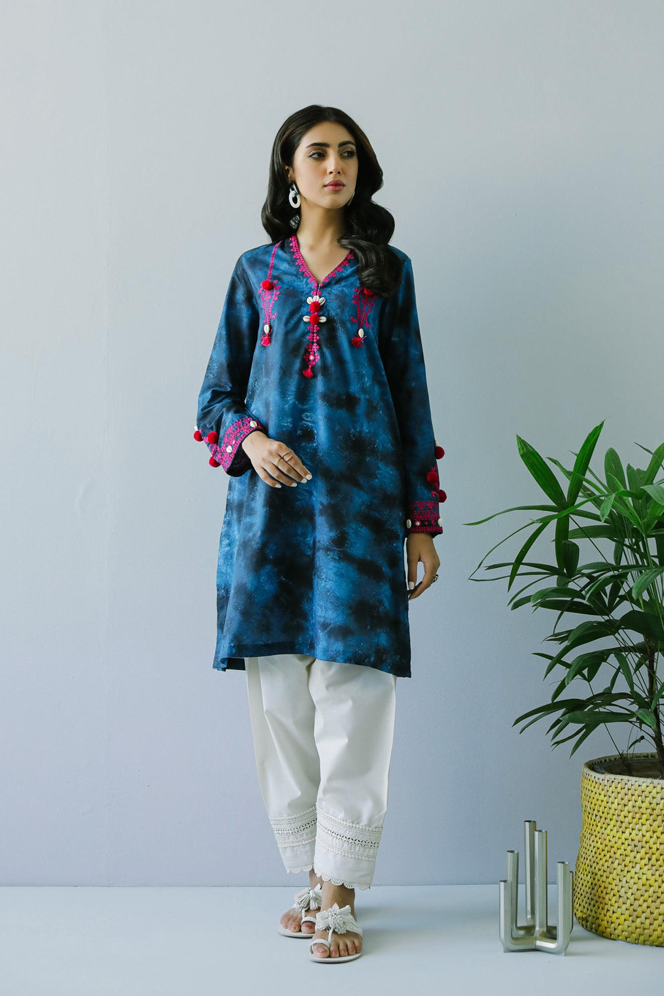 EMBROIDERED SHIRT (WTP111737) - Ethnic by Outfitters