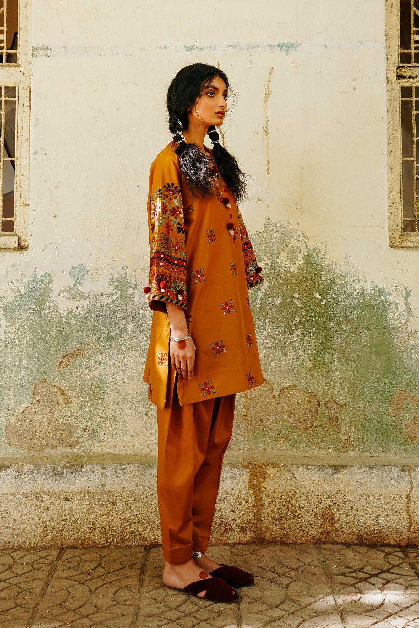 EMBROIDERED SUIT (WTP111744) - Ethnic by Outfitters