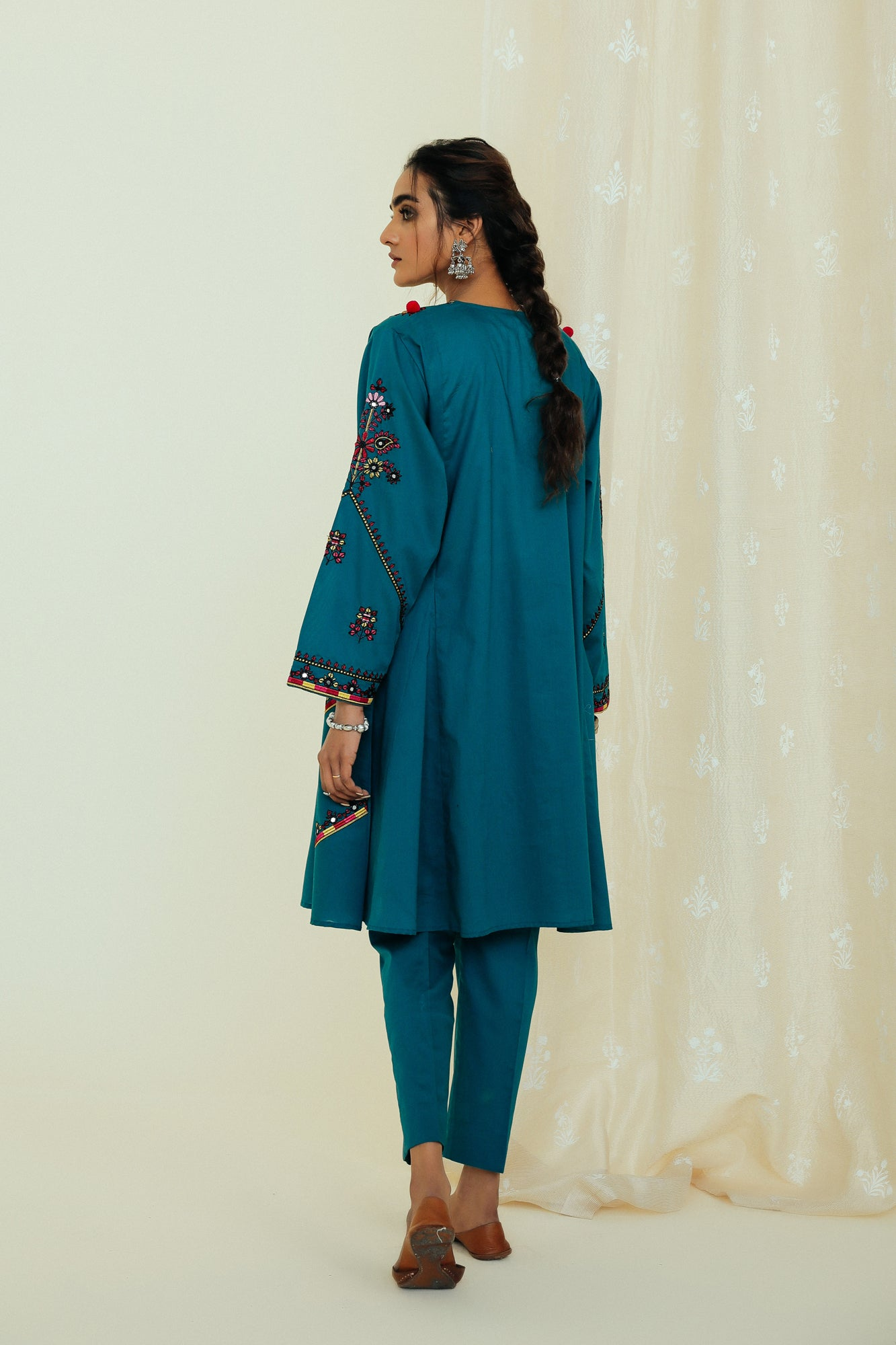 EMBROIDERED SUIT (WTP111746) - Ethnic by Outfitters