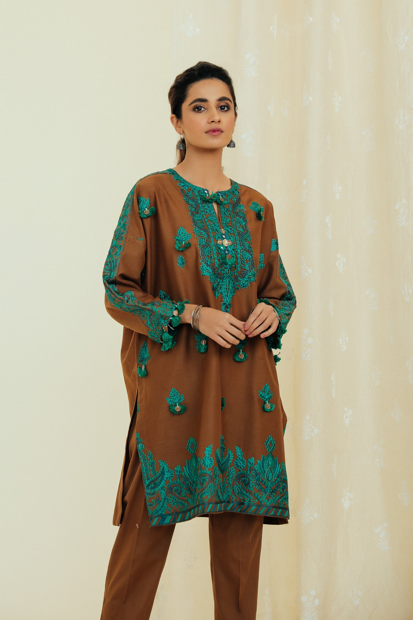 EMBROIDERED SUIT (WTP111749) - Ethnic by Outfitters