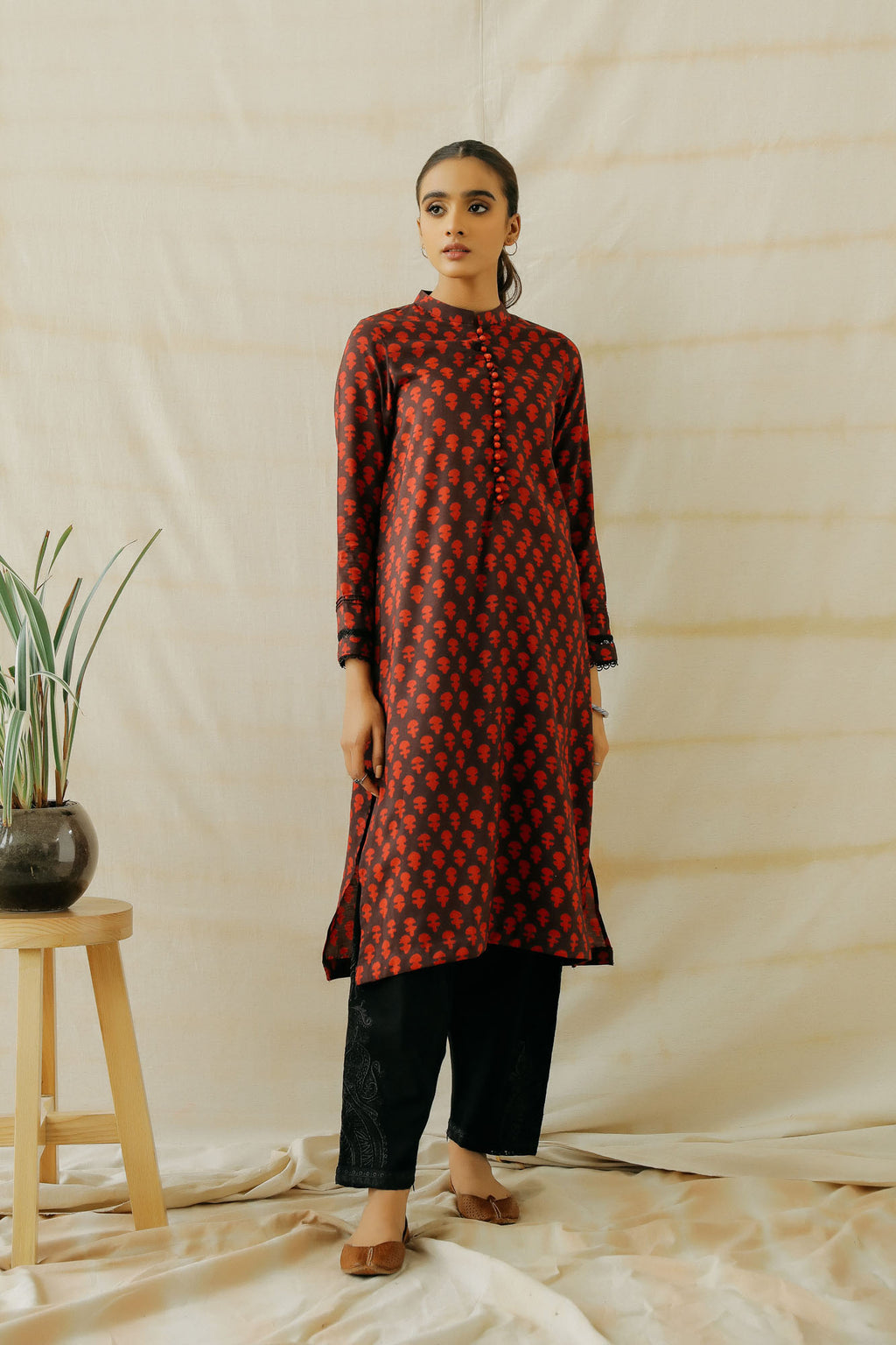 PRINTED SHIRT (WTP401607) - Ethnic by Outfitters