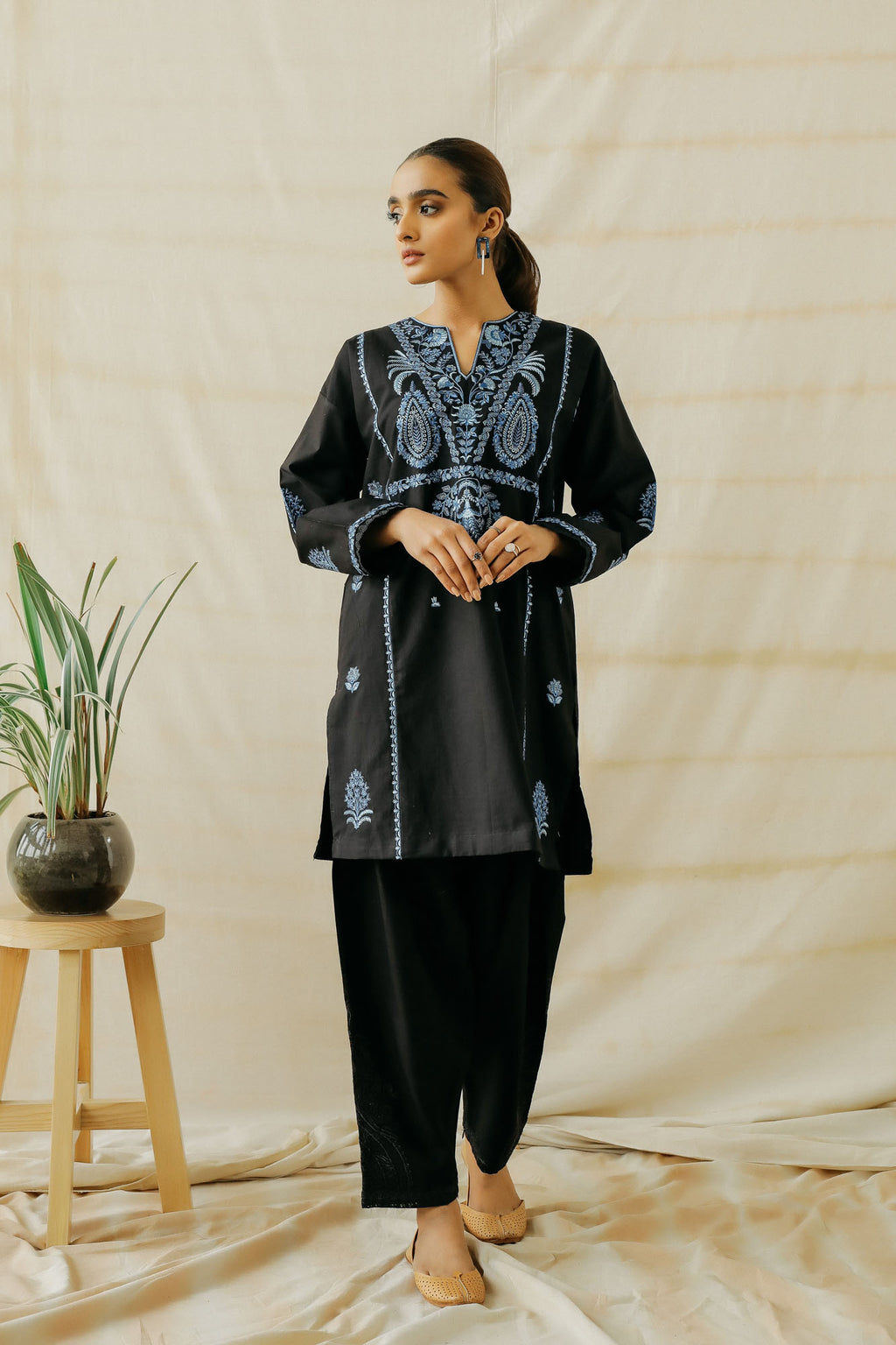 EMBROIDERED SHIRT (WTP401610) - Ethnic by Outfitters