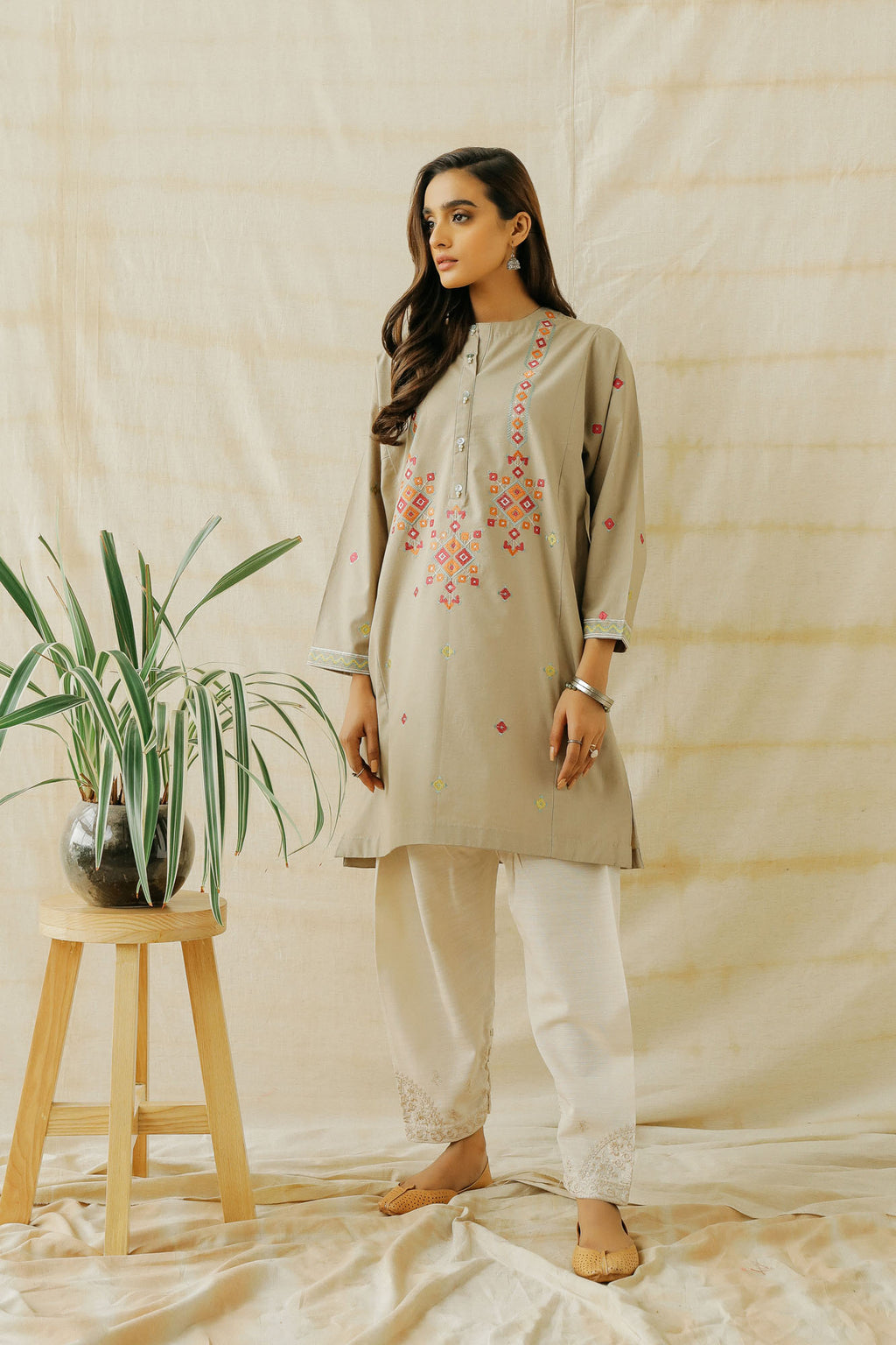 EMBROIDERED SHIRT (WTP401621) - Ethnic by Outfitters