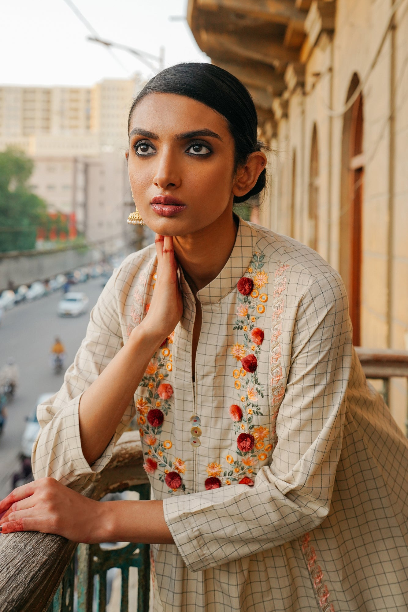 EMBROIDERED SHIRT (WTP401626) - Ethnic by Outfitters