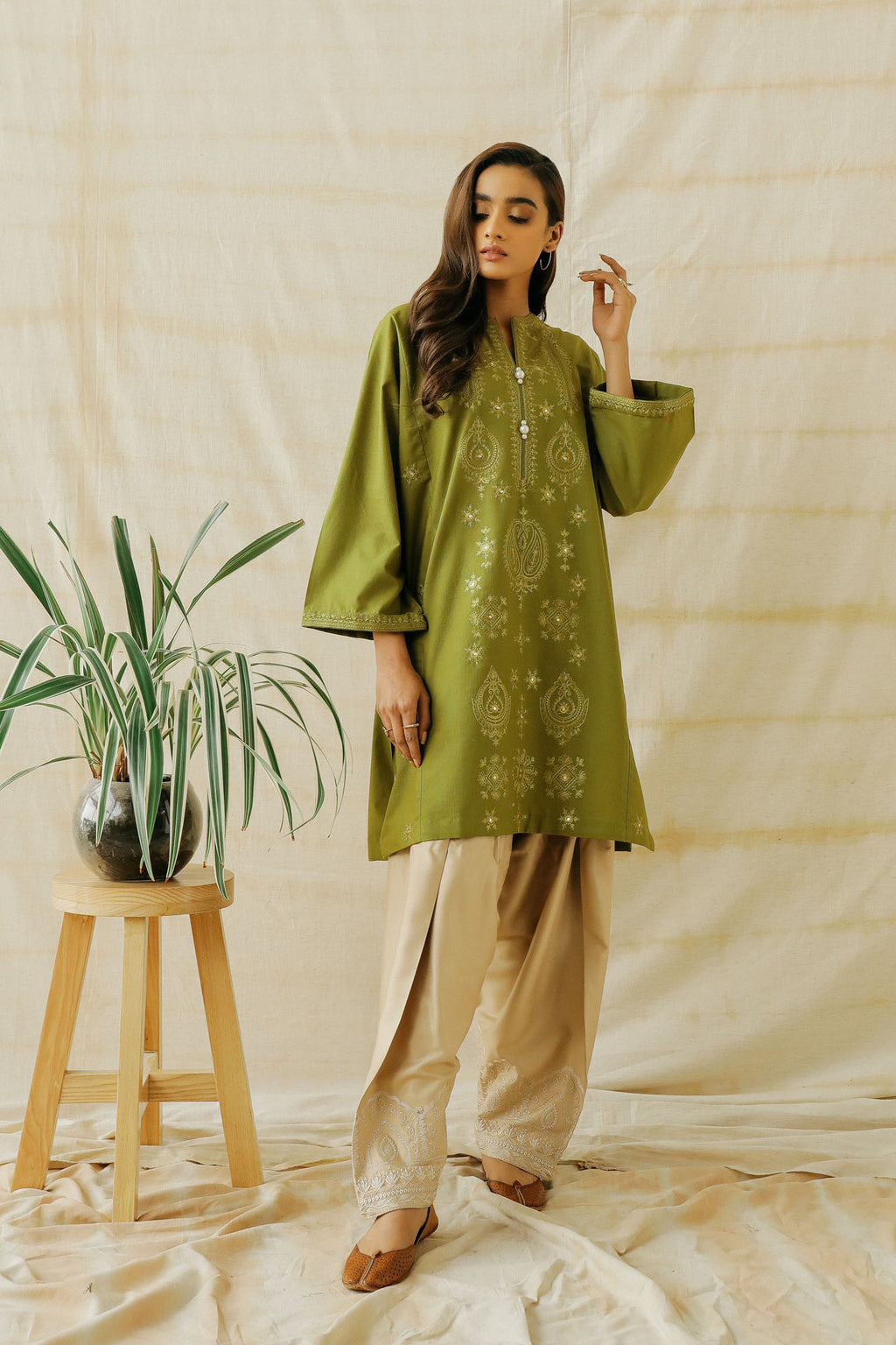 EMBROIDERED SHIRT (WTP401629) - Ethnic by Outfitters