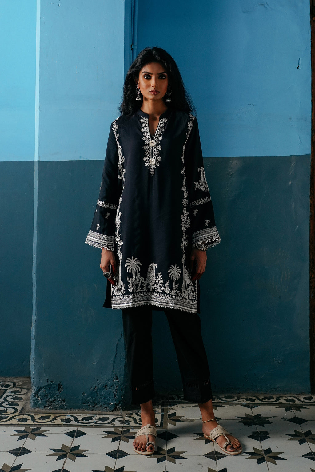 EMBROIDERED SHIRT (WTP401636) - Ethnic by Outfitters