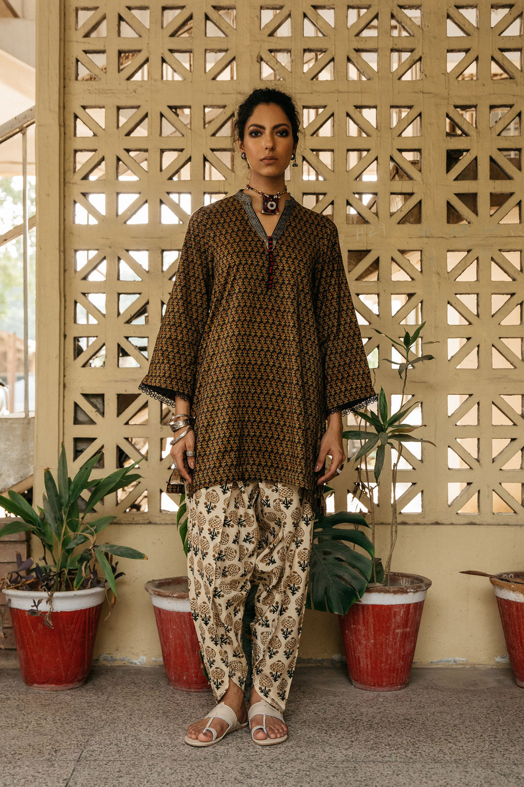 CAPSULE SUIT (WTP401641) - Ethnic by Outfitters