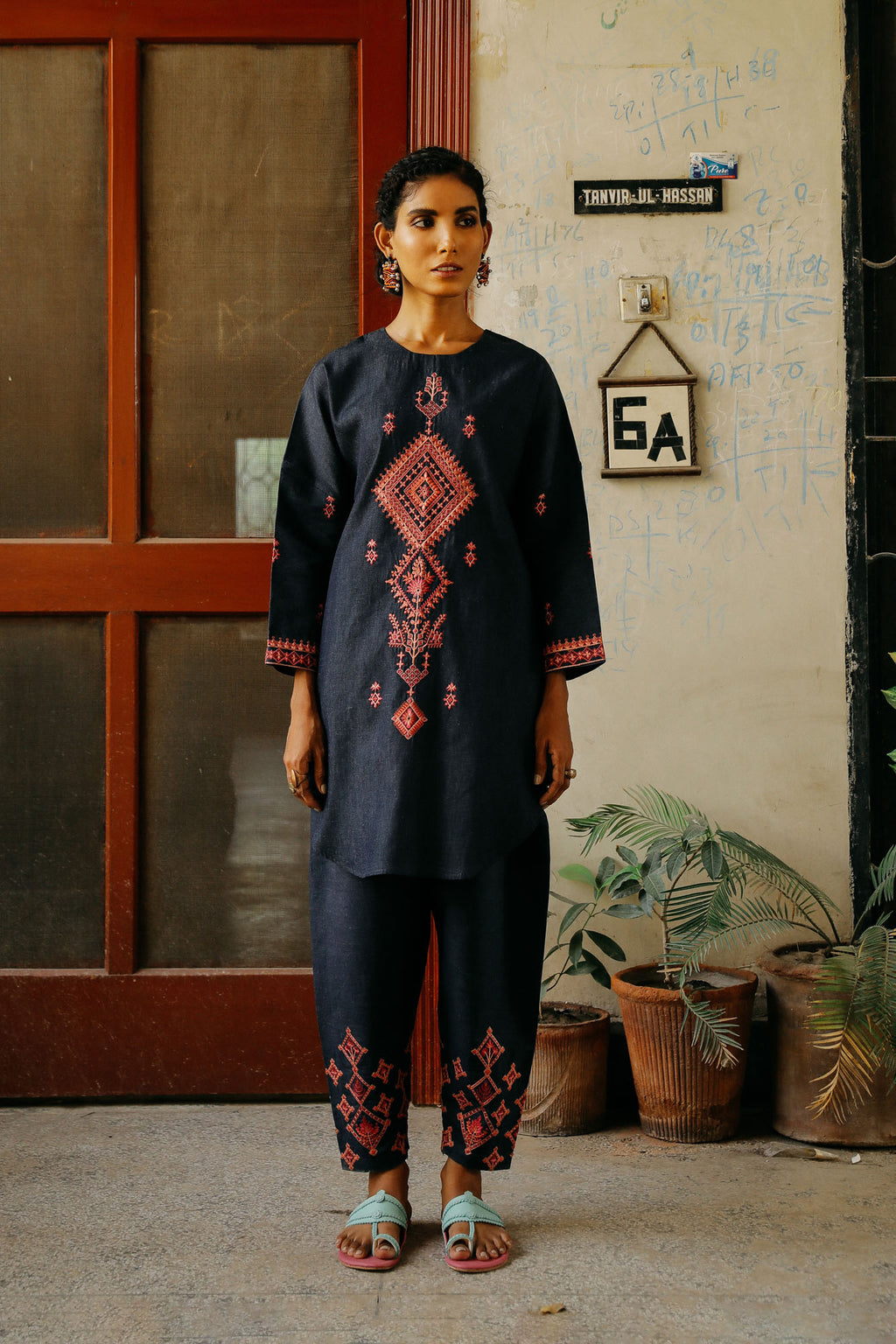 CAPSULE SUIT (WTP401644) - Ethnic by Outfitters