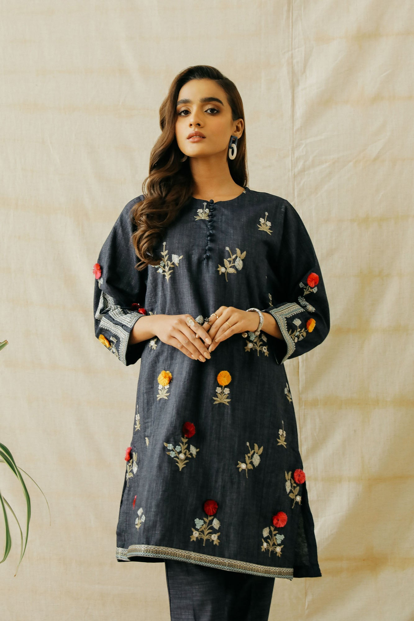 EMBROIDERED SUIT (WTP401653) - Ethnic by Outfitters