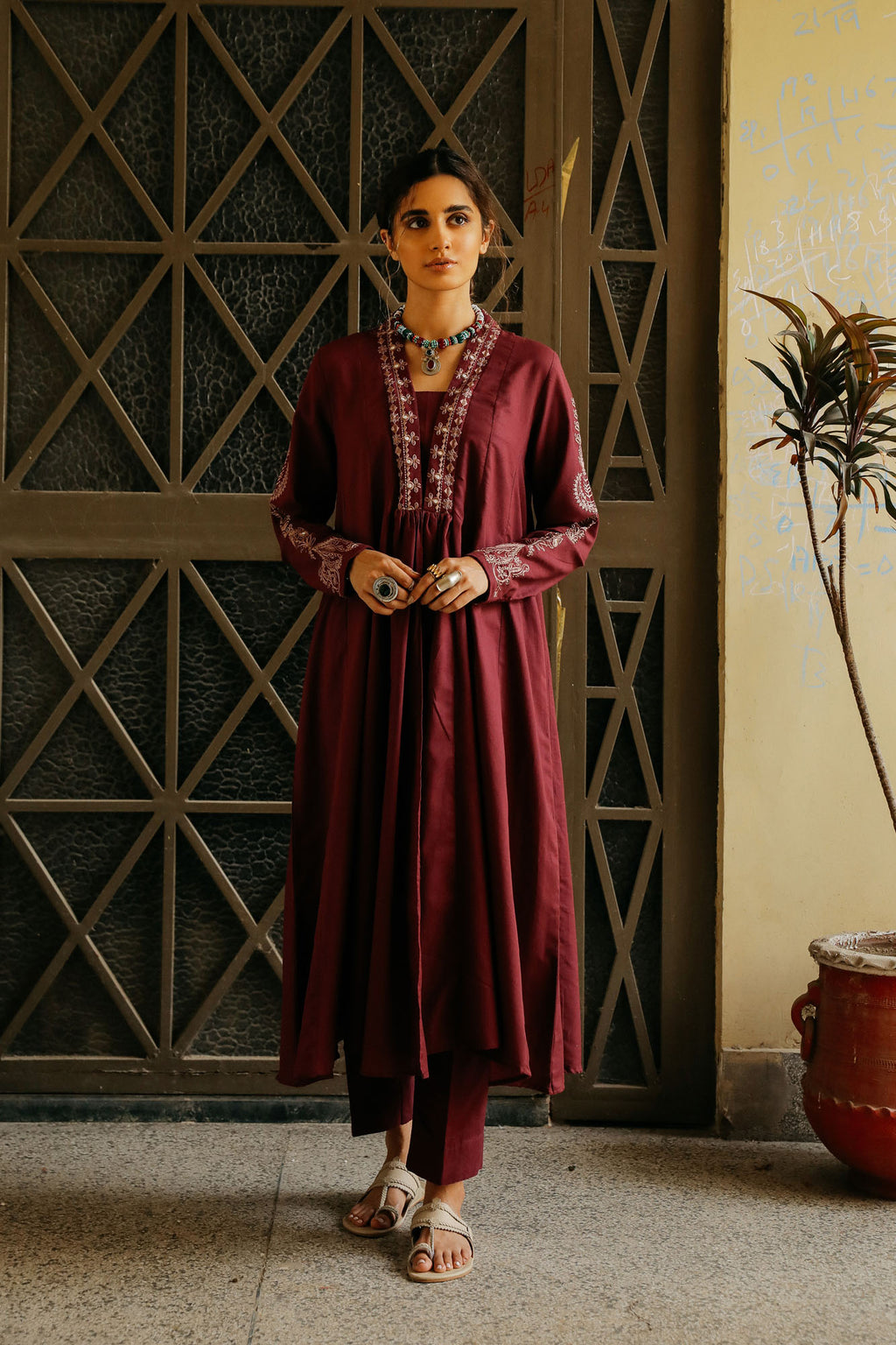 CAPSULE SUIT (WTP401663) - Ethnic by Outfitters