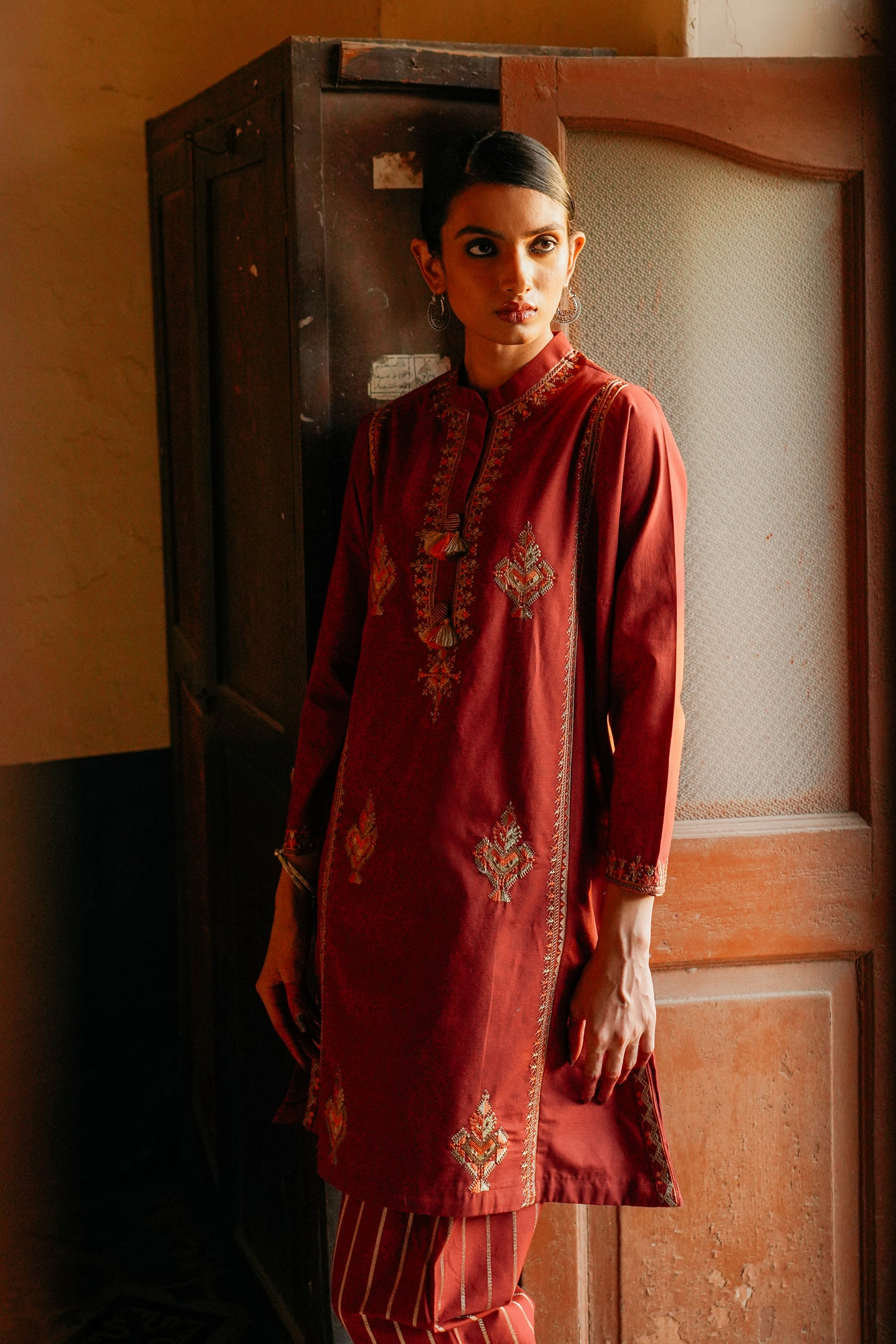 EMBROIDERED SUIT (WTP401671) - Ethnic by Outfitters