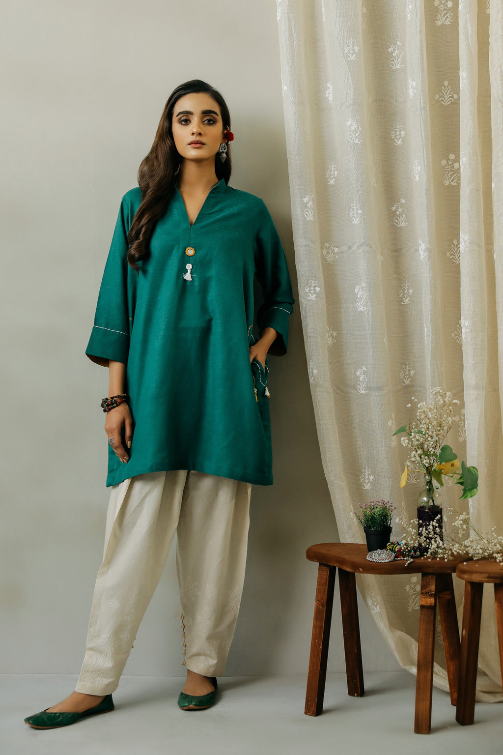 ROZANA SHIRT (WTR111301) - Ethnic by Outfitters