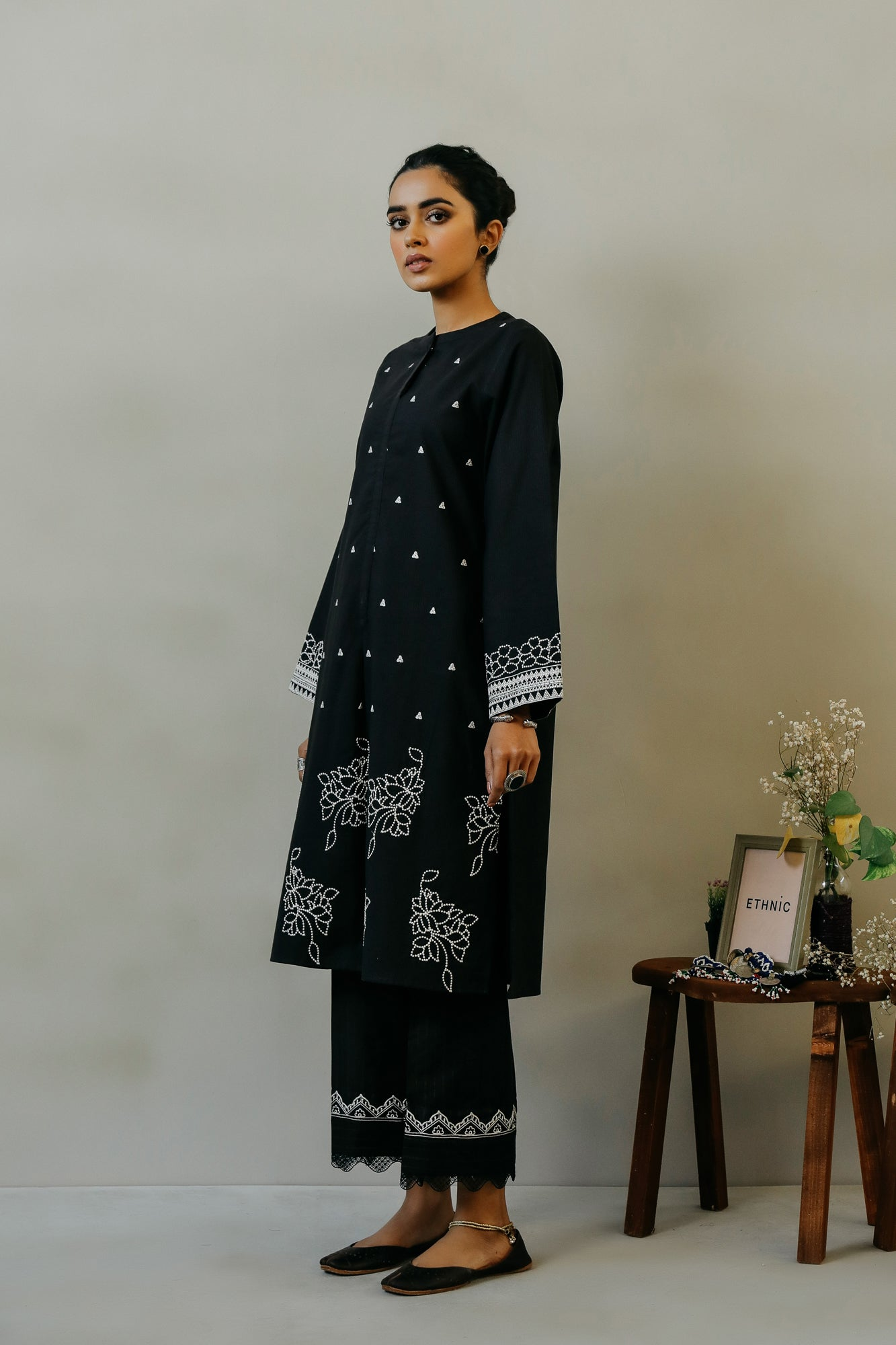 EMBROIDERED SHIRT (WTR111311) - Ethnic by Outfitters