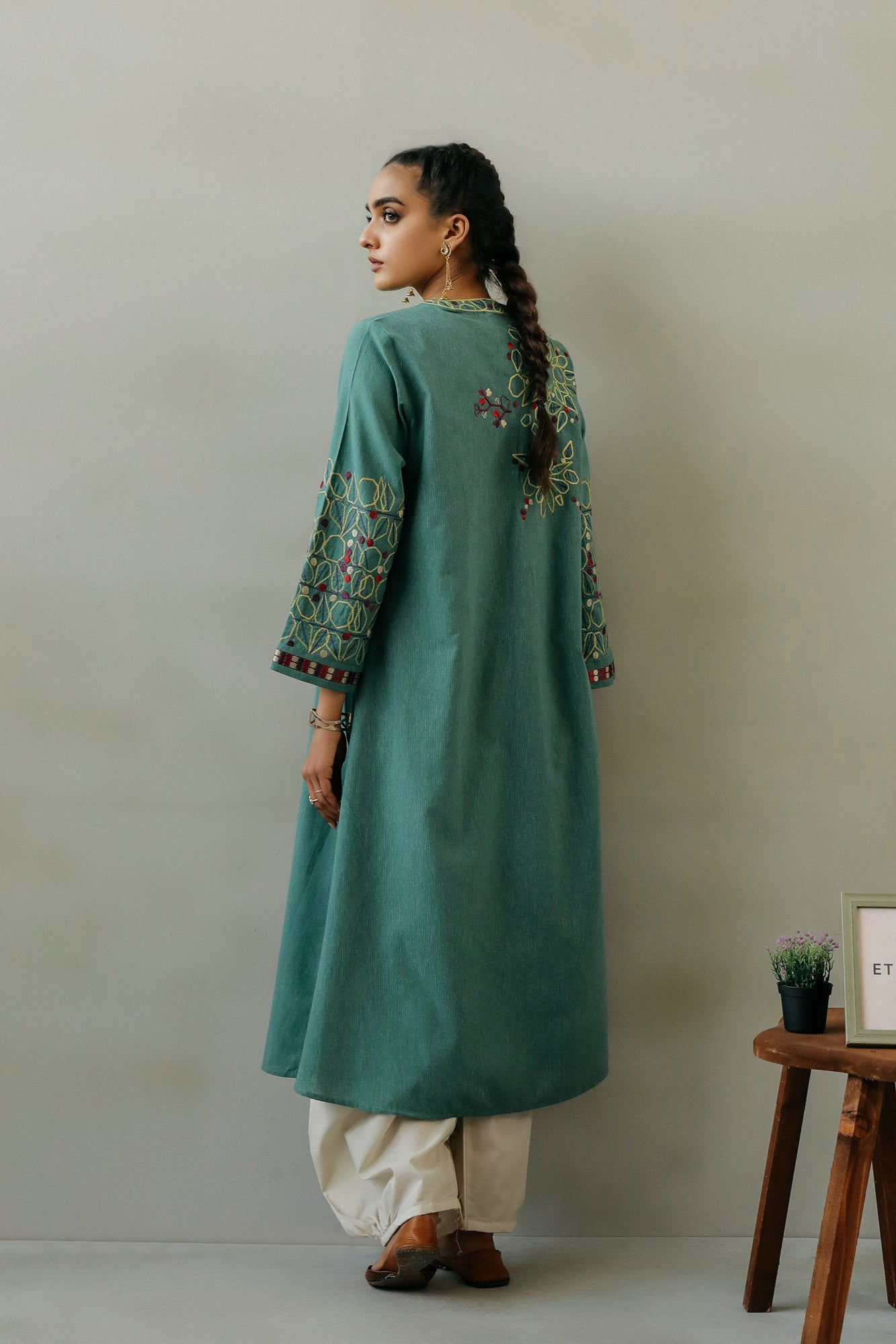 EMBROIDERED SHIRT (WTR111315) - Ethnic by Outfitters