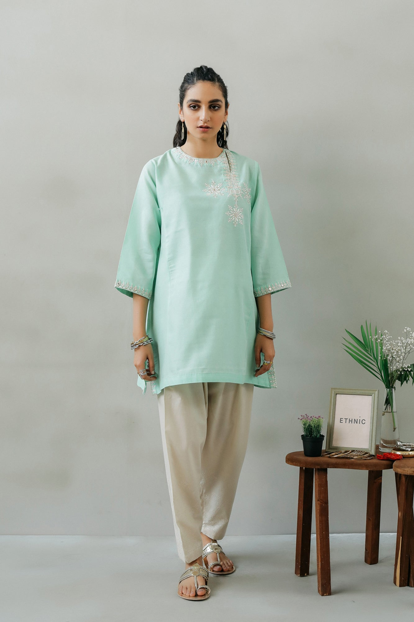 EMBROIDERED SHIRT (WTR111319) - Ethnic by Outfitters