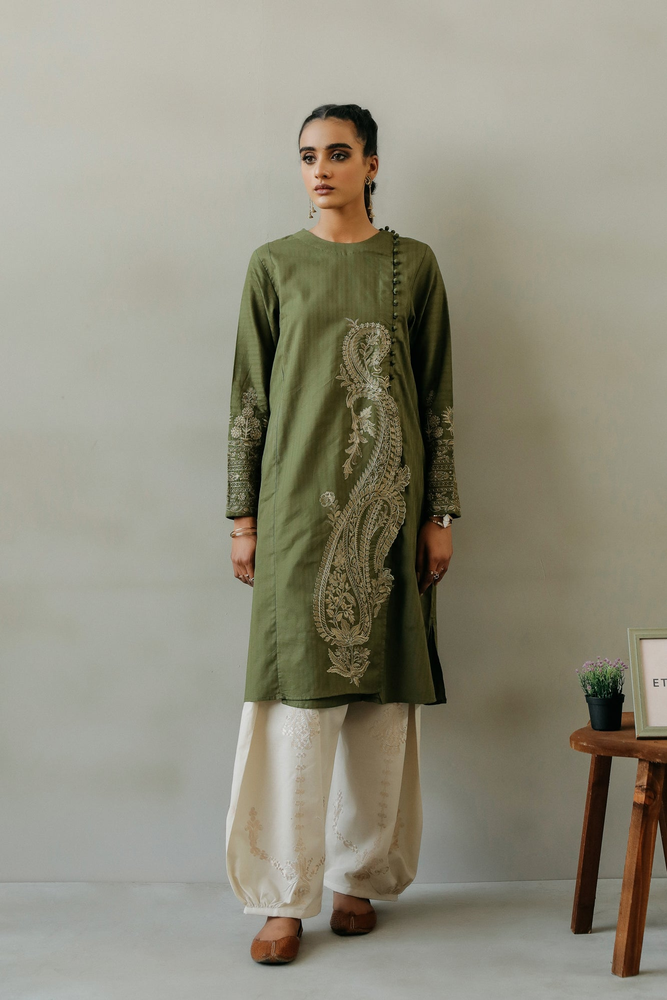 EMBROIDERED SHIRT (WTR111324) - Ethnic by Outfitters