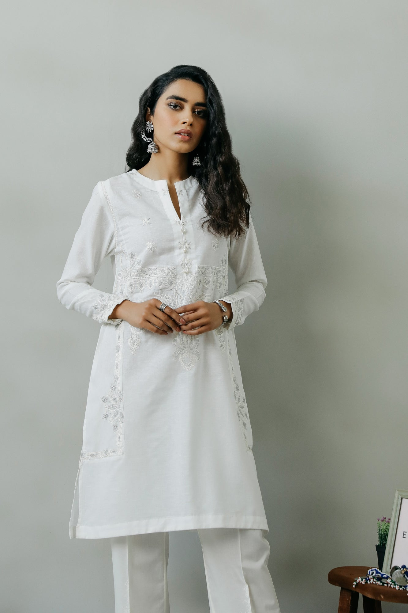 EMBROIDERED SHIRT (WTR111327) - Ethnic by Outfitters