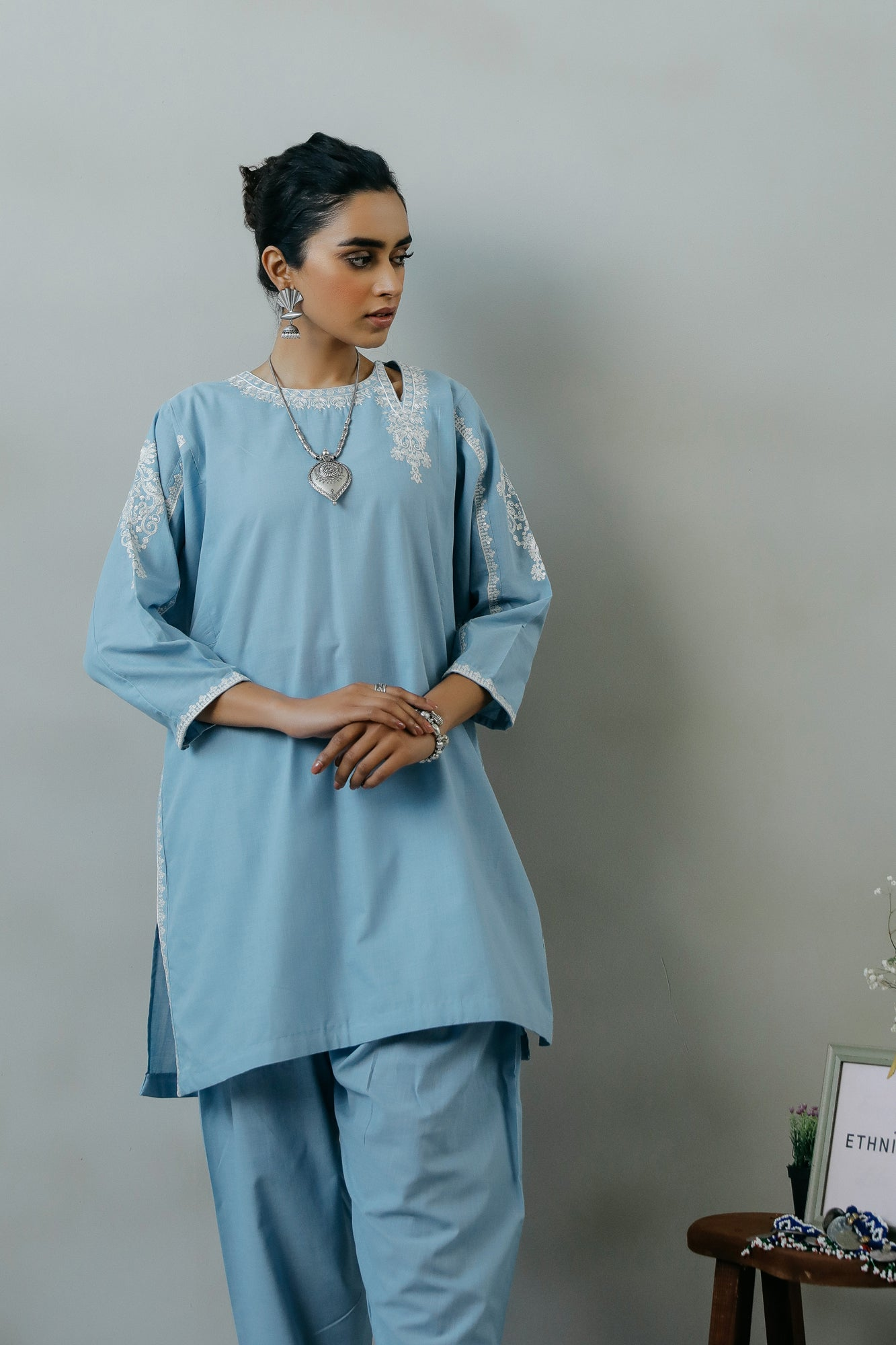 EMBROIDERED SUIT (WTR111344) - Ethnic by Outfitters