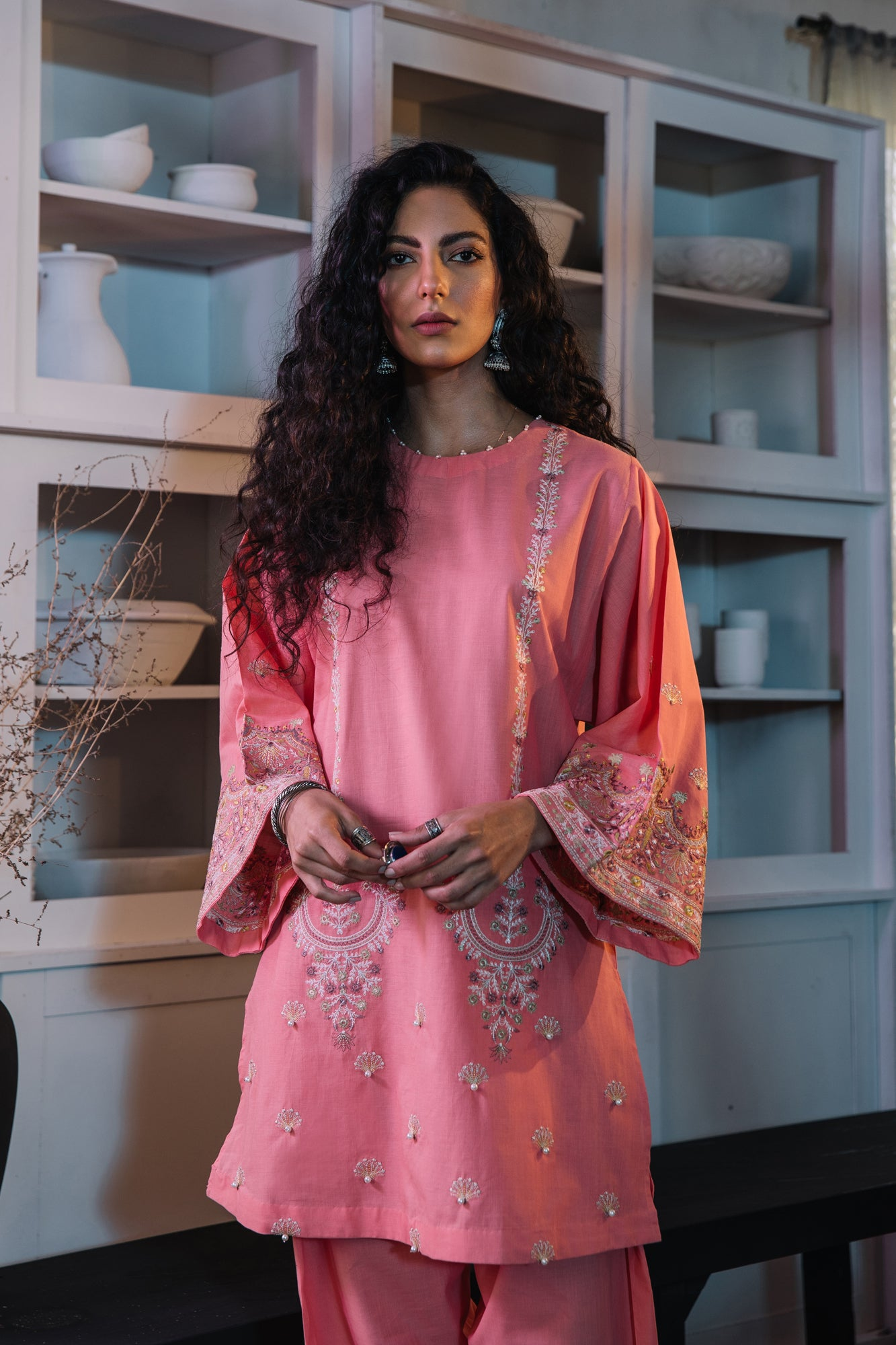 EMBROIDERED SUIT (WTR111348) - Ethnic by Outfitters