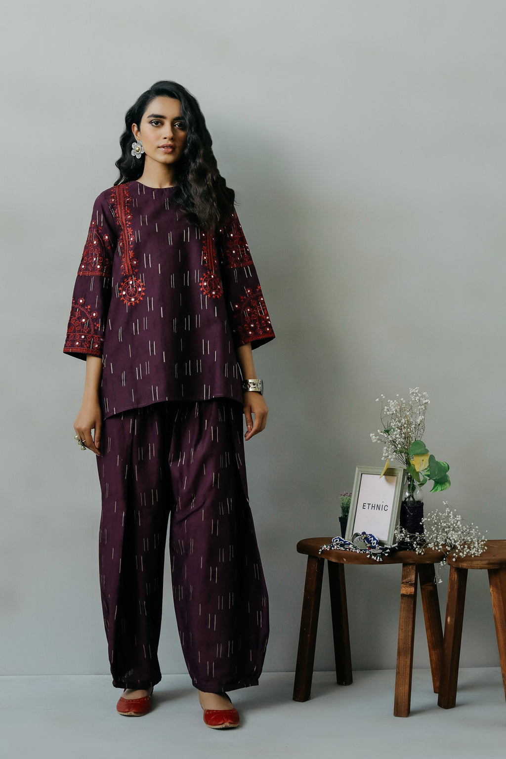 EMBROIDERED SUIT (WTR111359) - Ethnic by Outfitters
