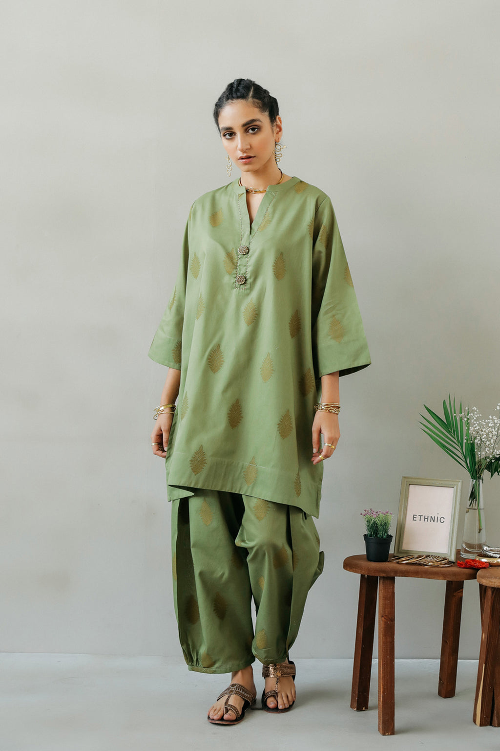 JACQUARD SUIT (WTR111368) - Ethnic by Outfitters