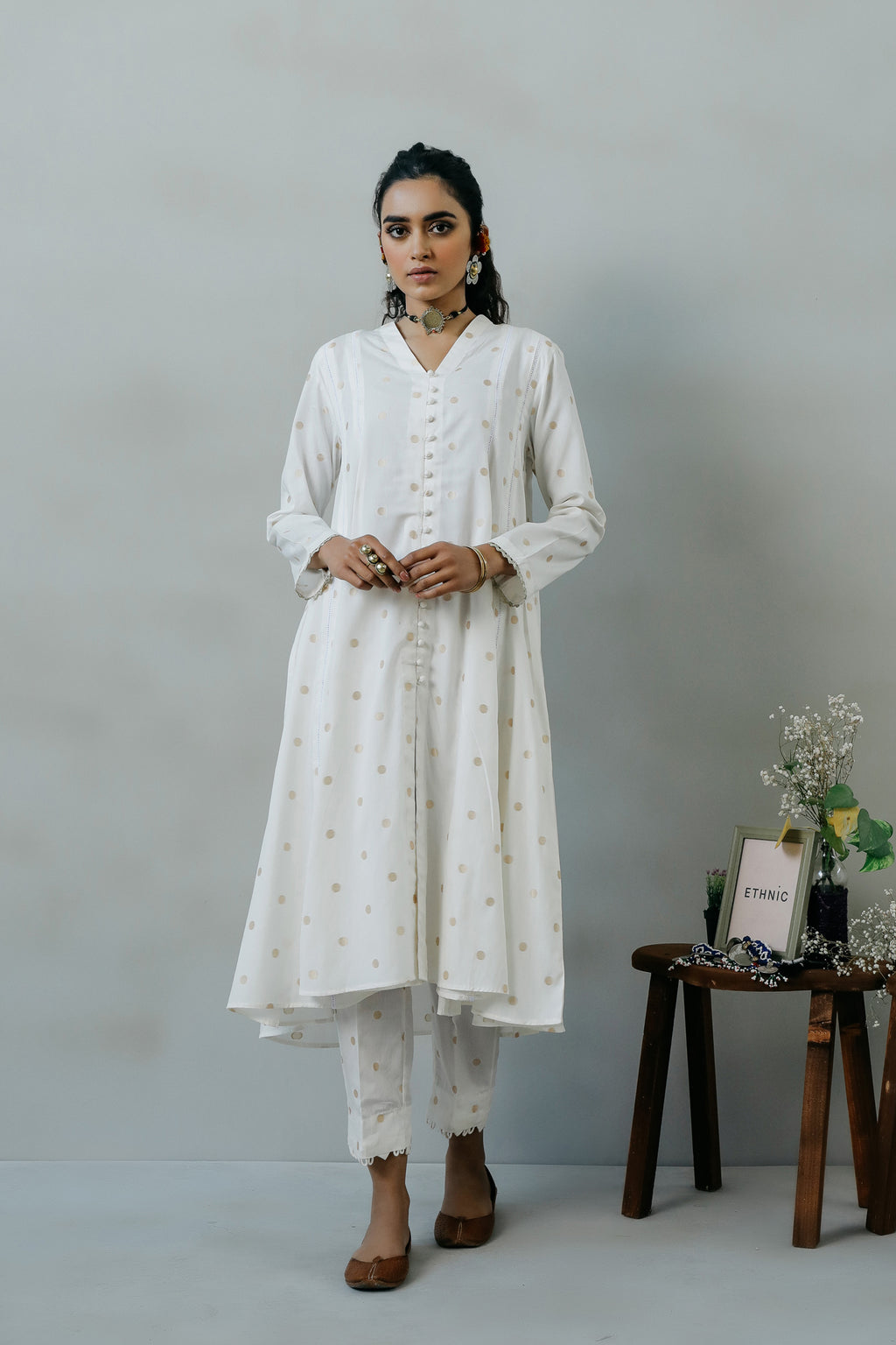 ROZANA SUIT (WTR111387) - Ethnic by Outfitters