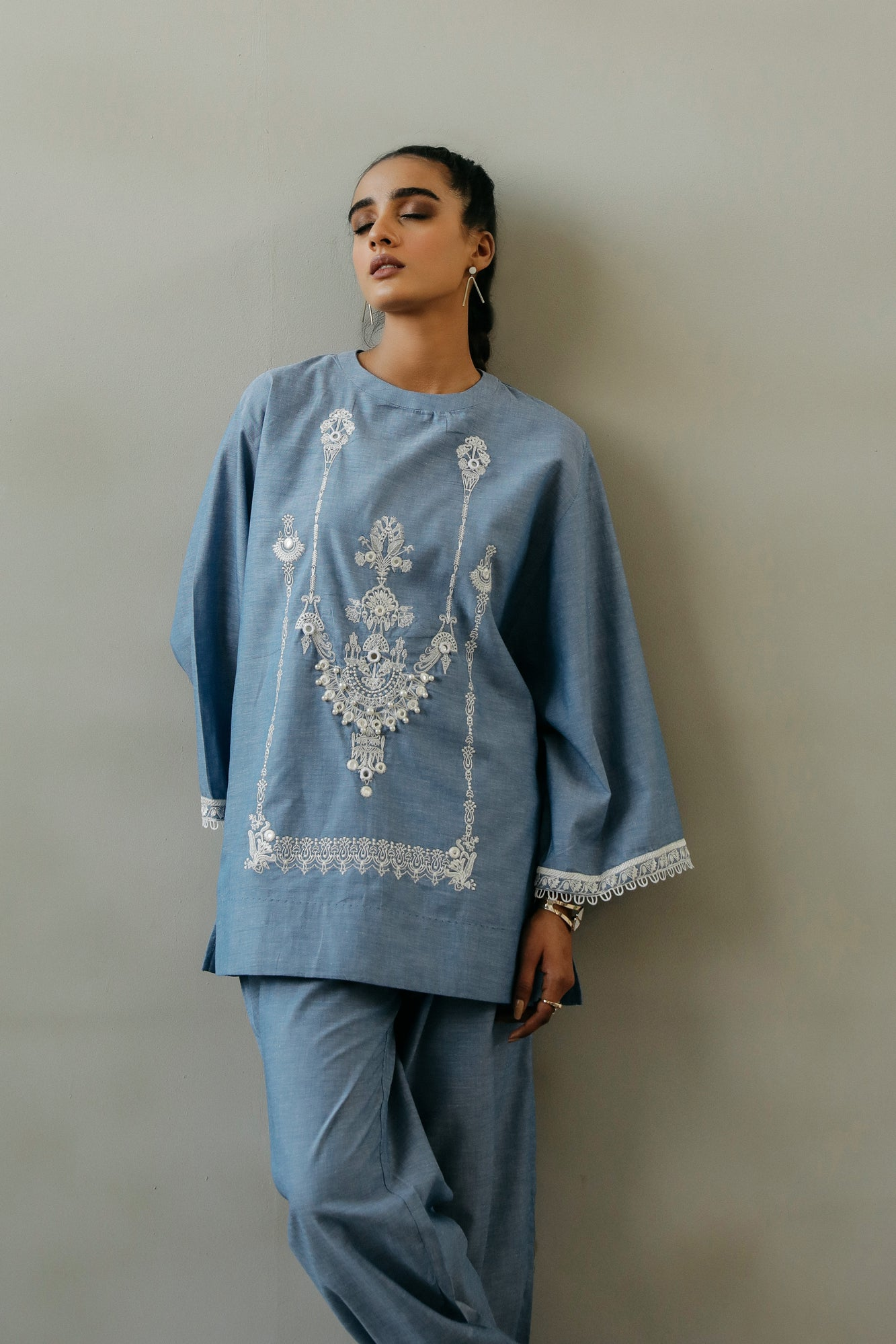 EMBROIDERED SUIT (WTR111403) - Ethnic by Outfitters