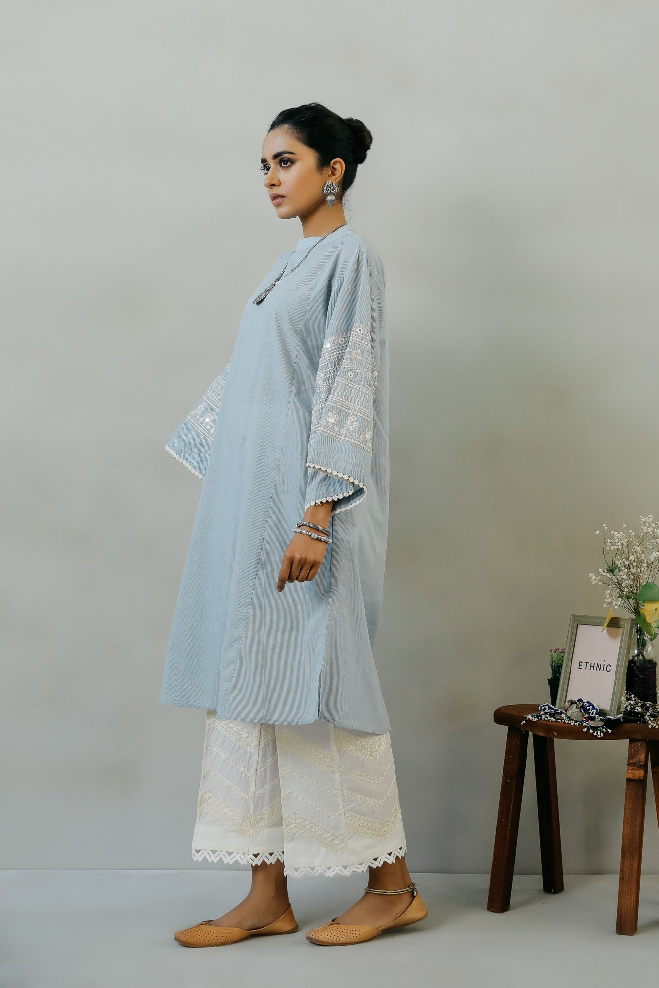 EMBROIDERED SHIRT (WTR111404) - Ethnic by Outfitters