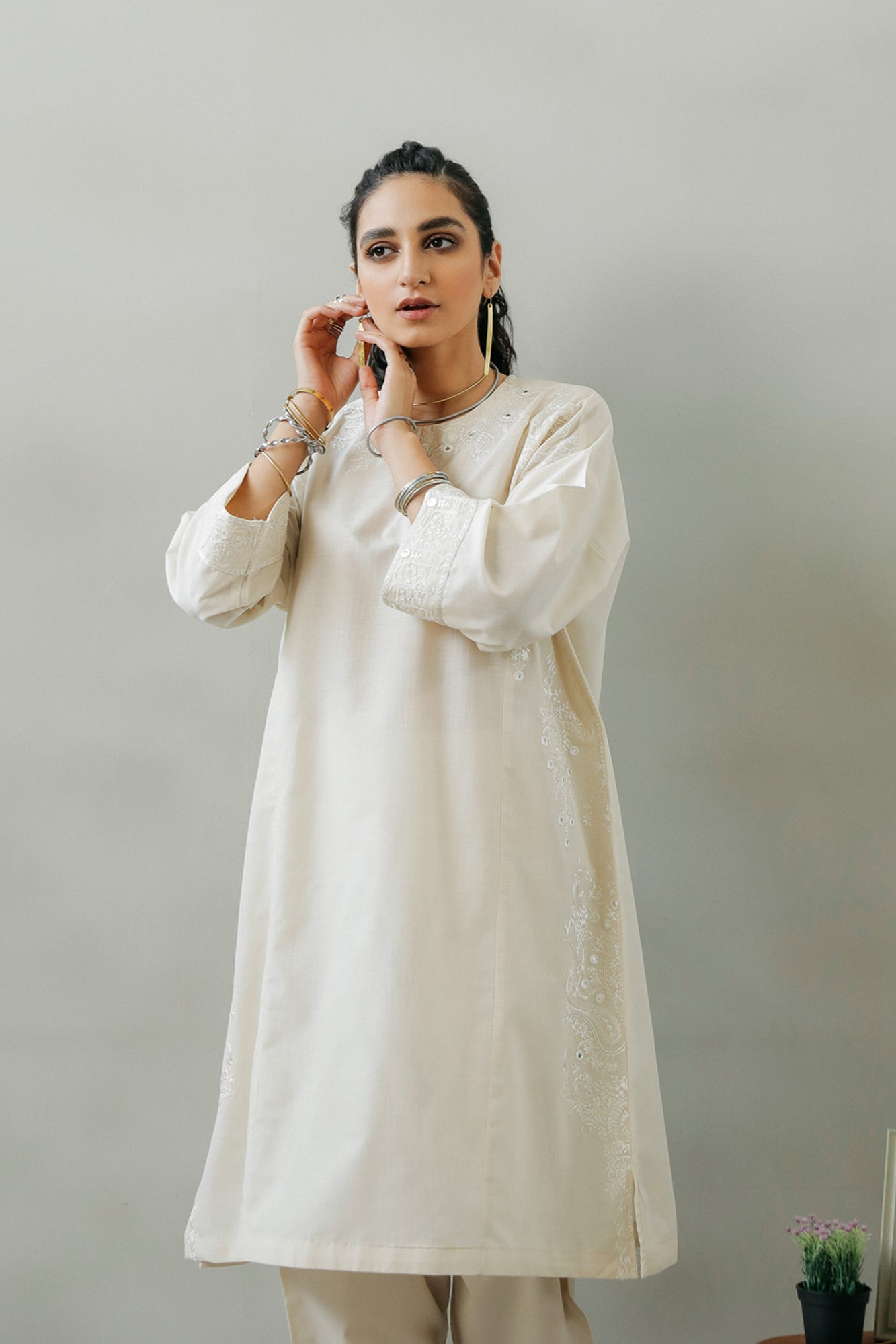 EMBROIDERED SHIRT (WTR111409) - Ethnic by Outfitters
