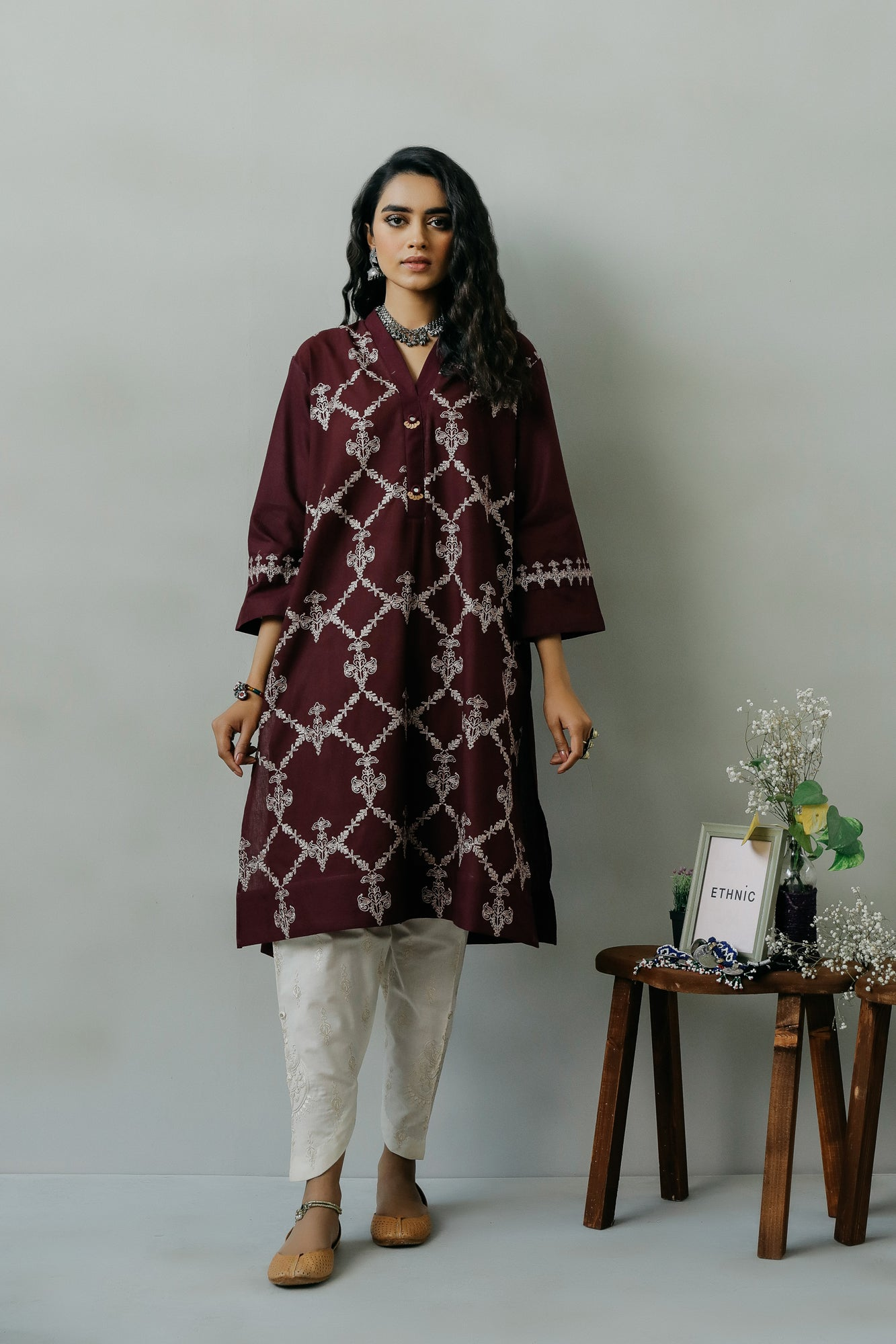 EMBROIDERED SHIRT (WTR111418) - Ethnic by Outfitters