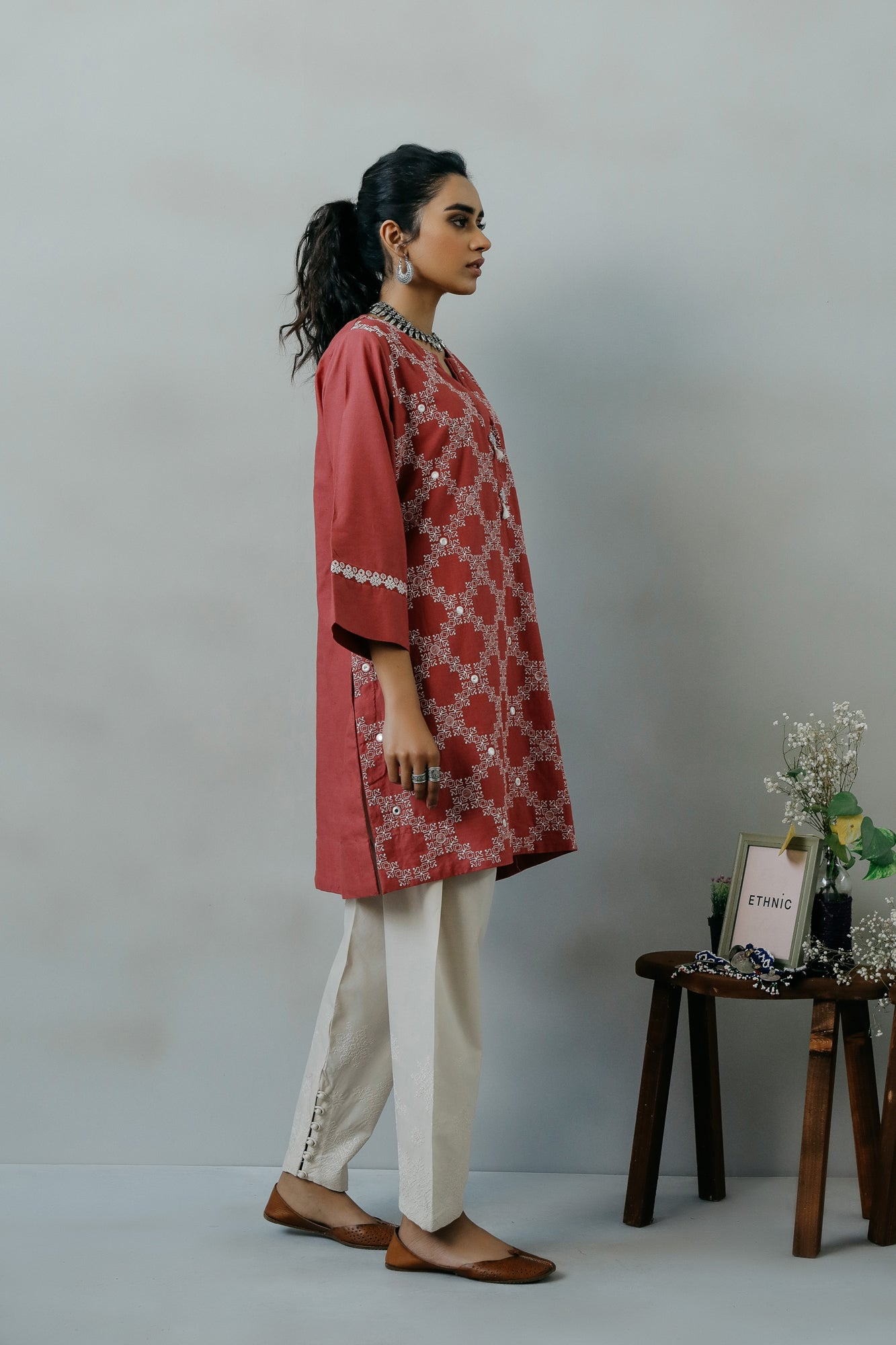 EMBROIDERED SHIRT (WTR111419) - Ethnic by Outfitters