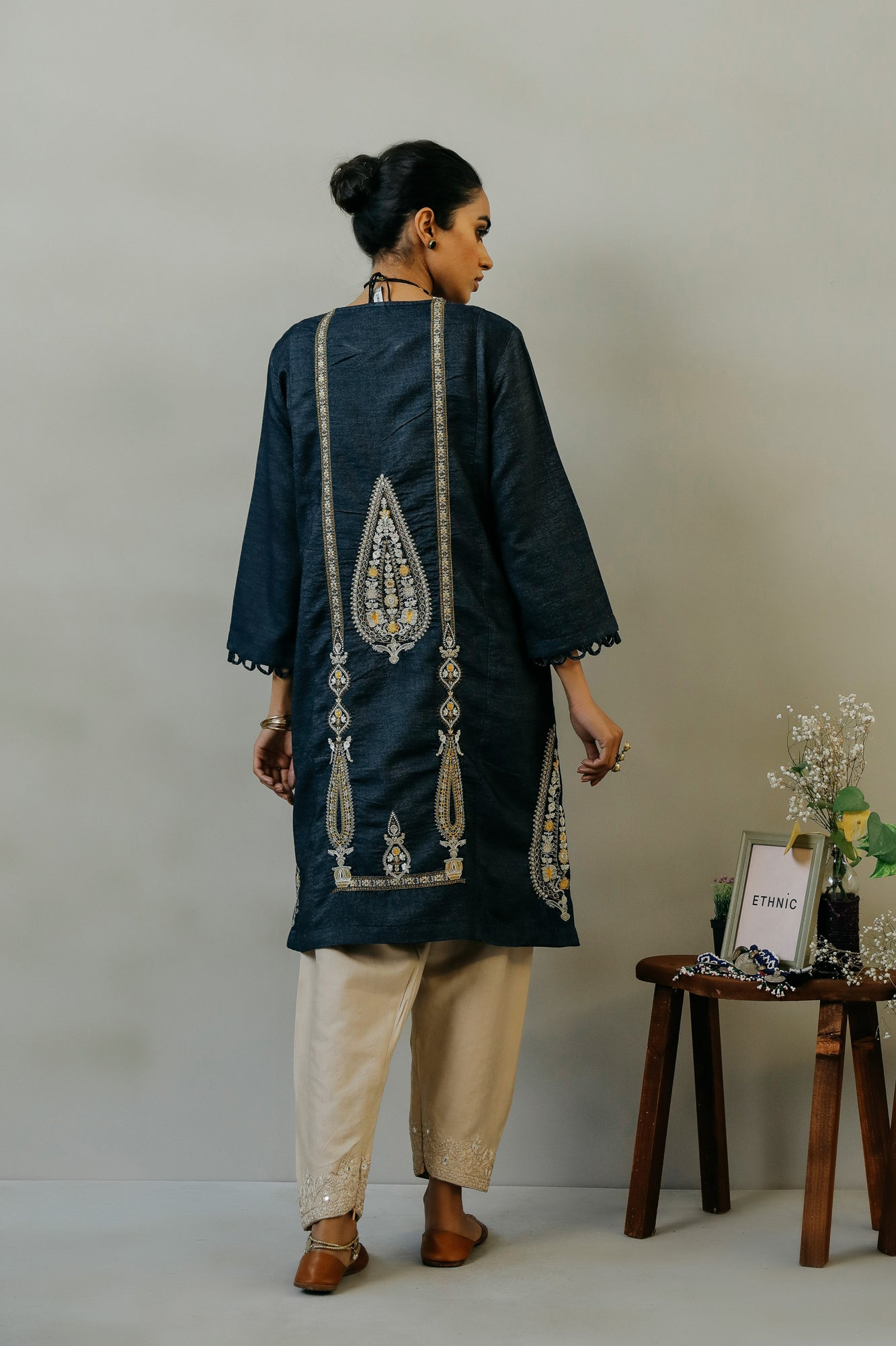 EMBROIDERED SHIRT (WTR111439) - Ethnic by Outfitters