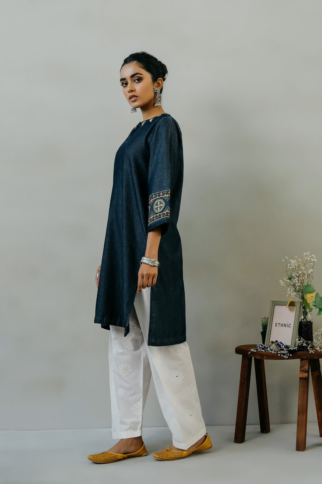 EMBROIDERED SHIRT (WTR111440) - Ethnic by Outfitters